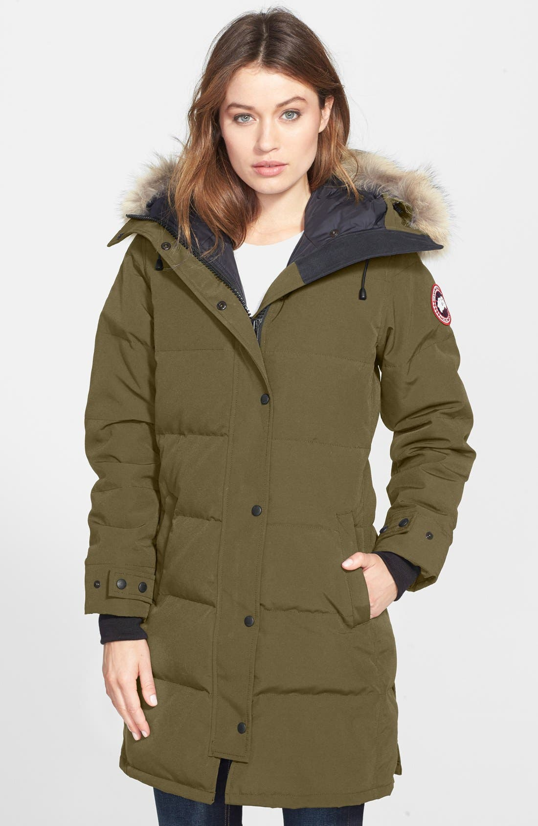 CANADA GOOSE Shelburne Genuine Coyote Fur Trim Down