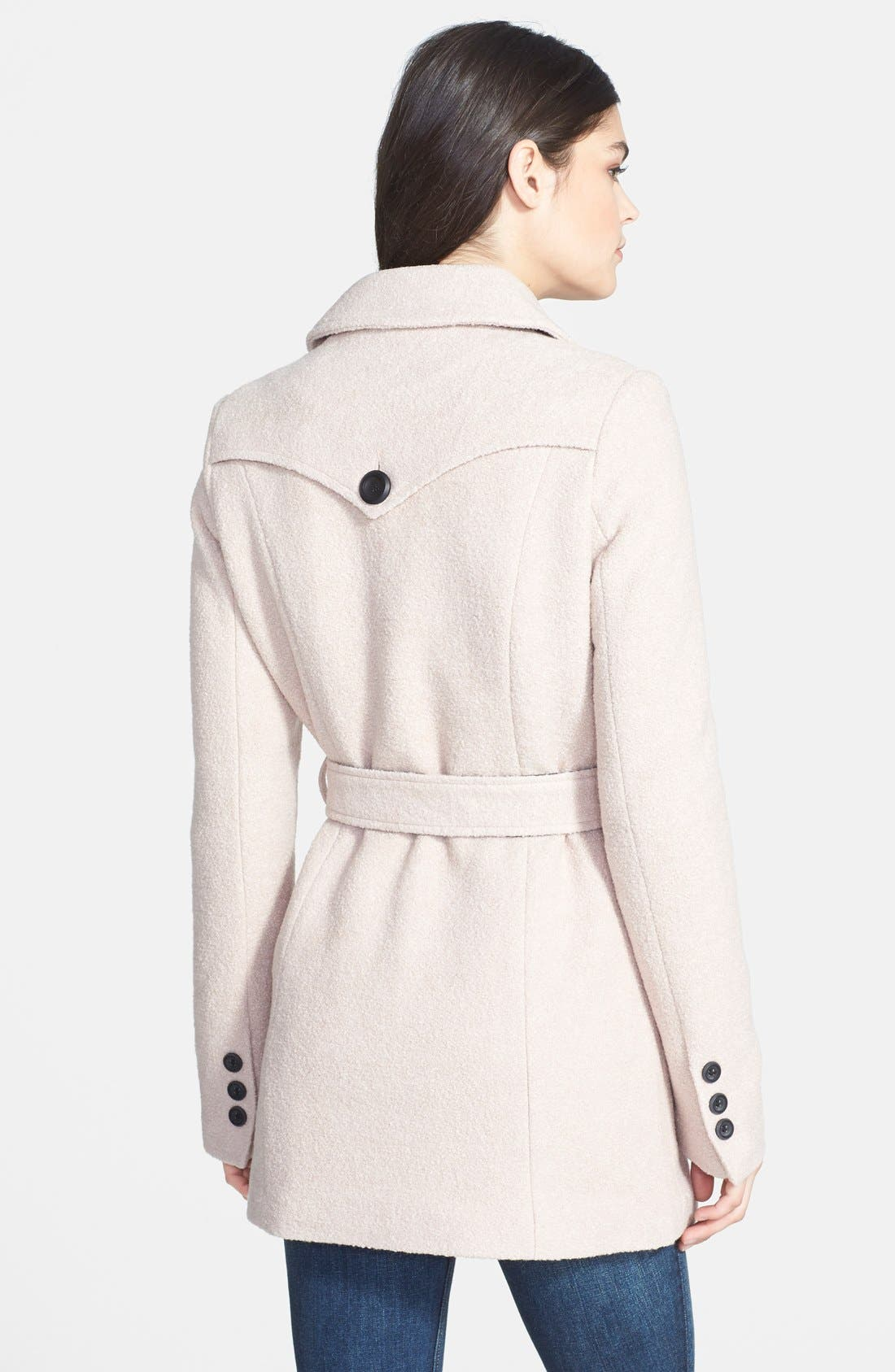 Alternate Image 2  - Buffalo by David Bitton Double Breasted Belted Bouclé Coat