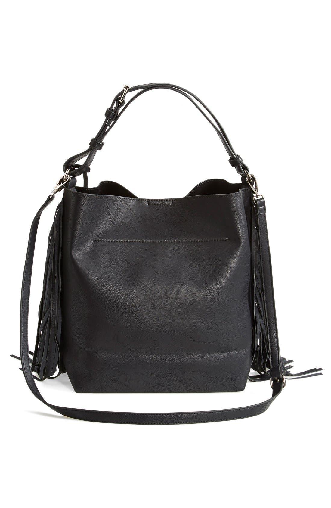 Alternate Image 4  - Urban Originals 'Avoca' Fringe Shoulder Bag