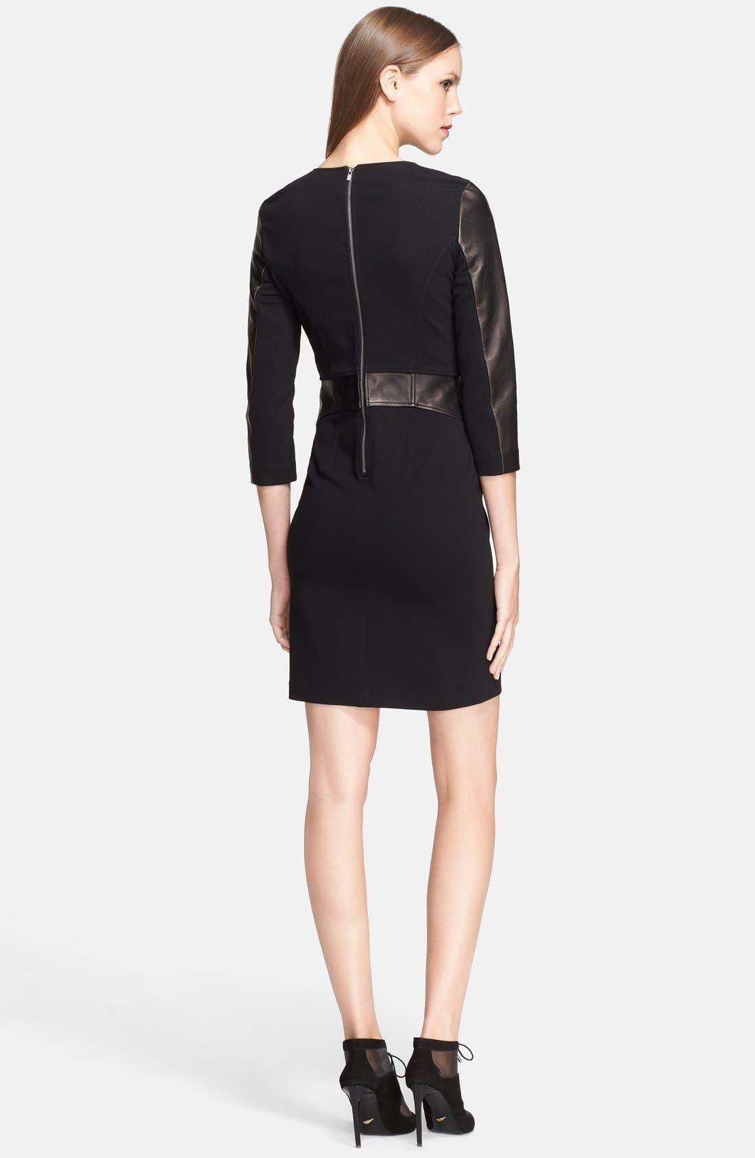 Alternate Image 2  - Diane von Furstenberg Leather Shift Dress