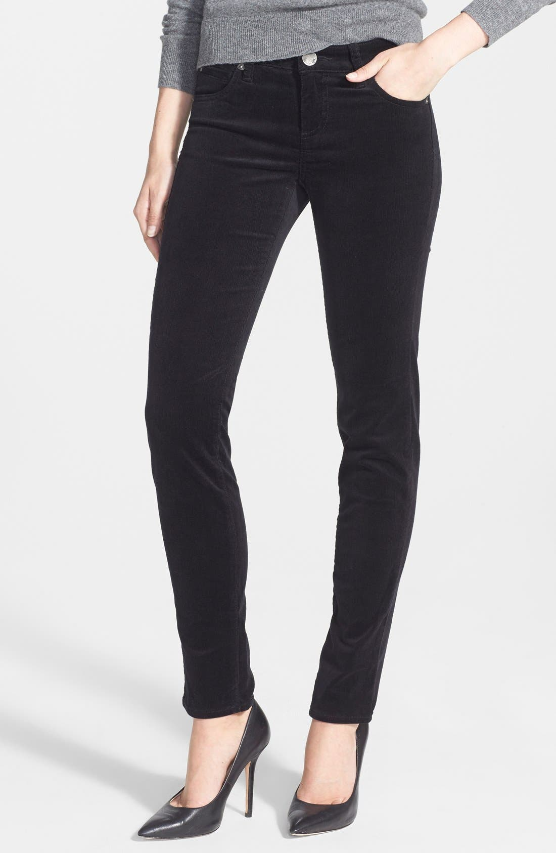 Alternate Image 1 Selected - KUT from the Kloth Diana Stretch Corduroy Skinny Pants (Regular & Petite)