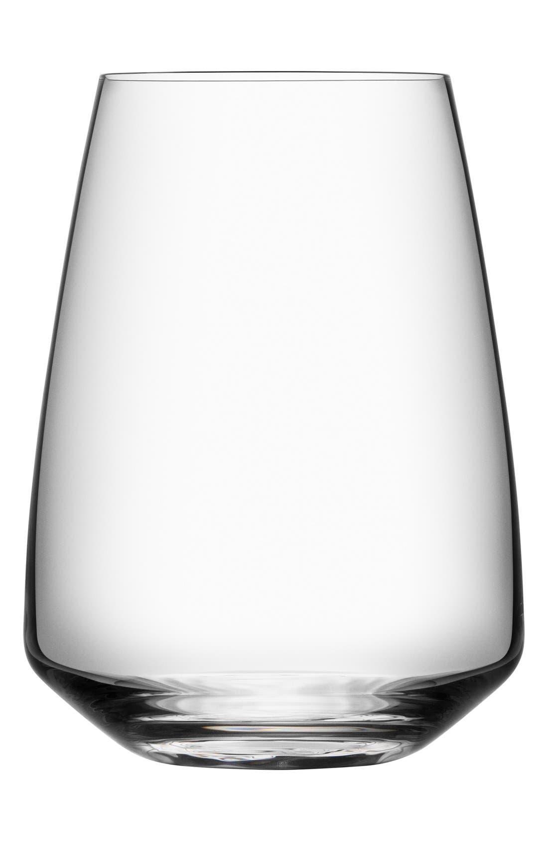 Orrefors Pulse Set of 4 Leaded Crystal Stemless Wine Glasses