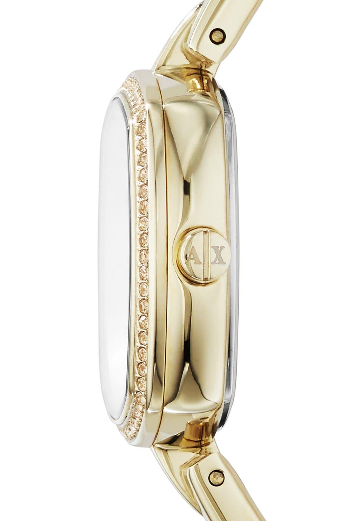 Alternate Image 3  - AX Armani Exchange Square Bracelet Watch, 30mm