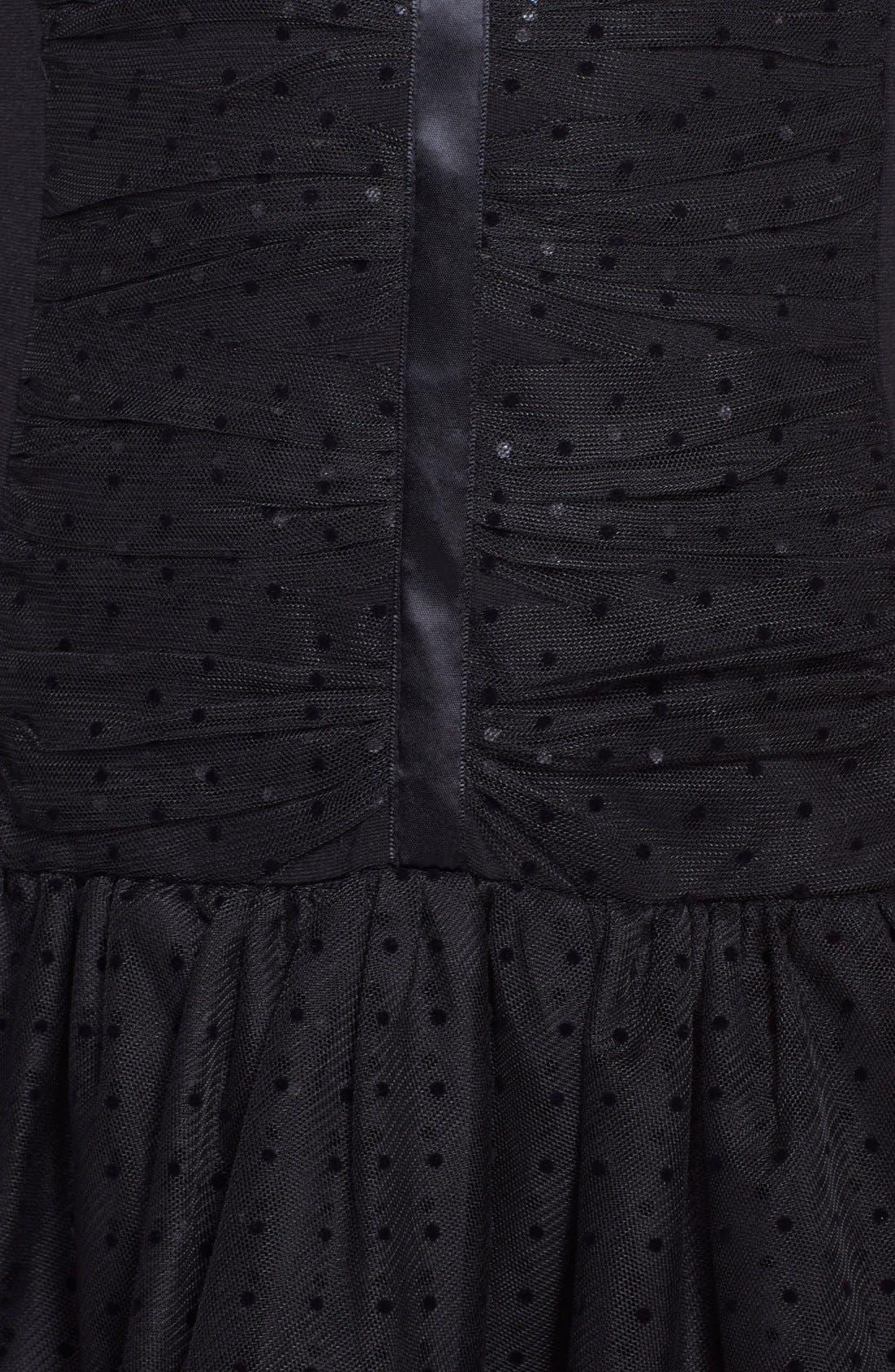 Alternate Image 4  - Betsey Johnson Illusion Yoke Dot Mesh Fit & Flare Dress