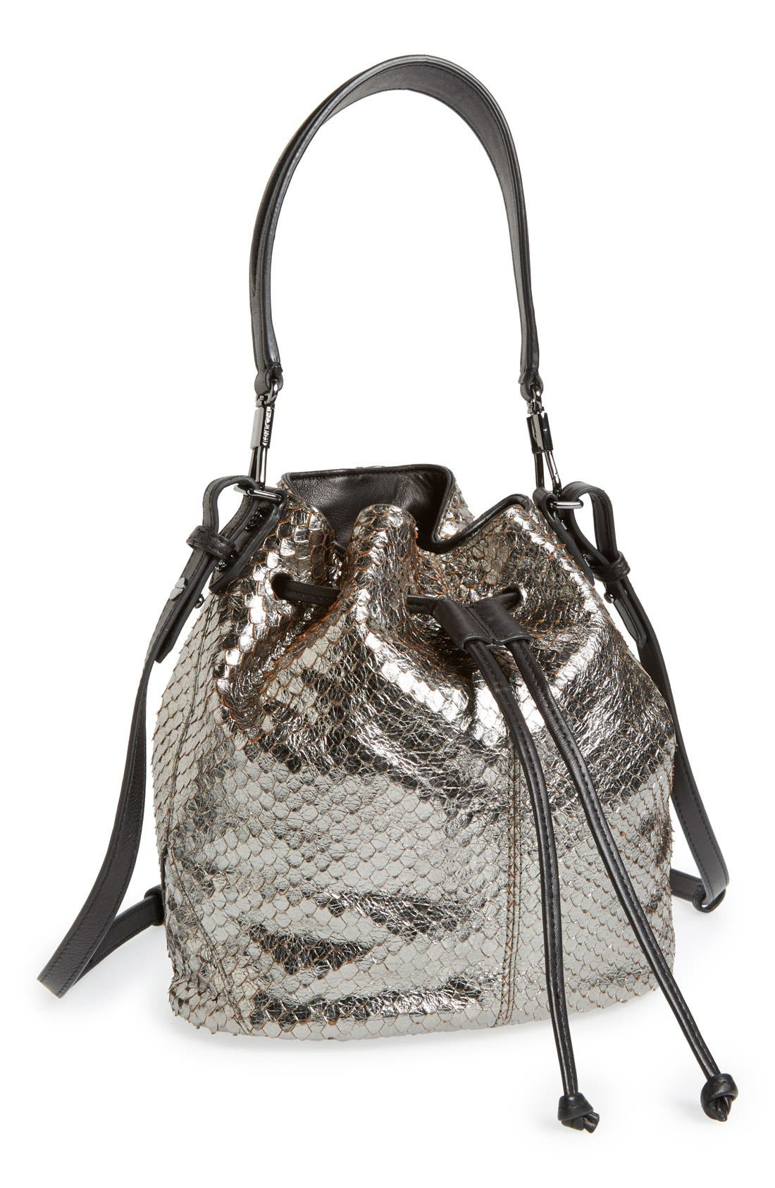Alternate Image 4  - Elizabeth and James 'Mini Cynnie' Snake Effect Leather Convertible Bucket Bag