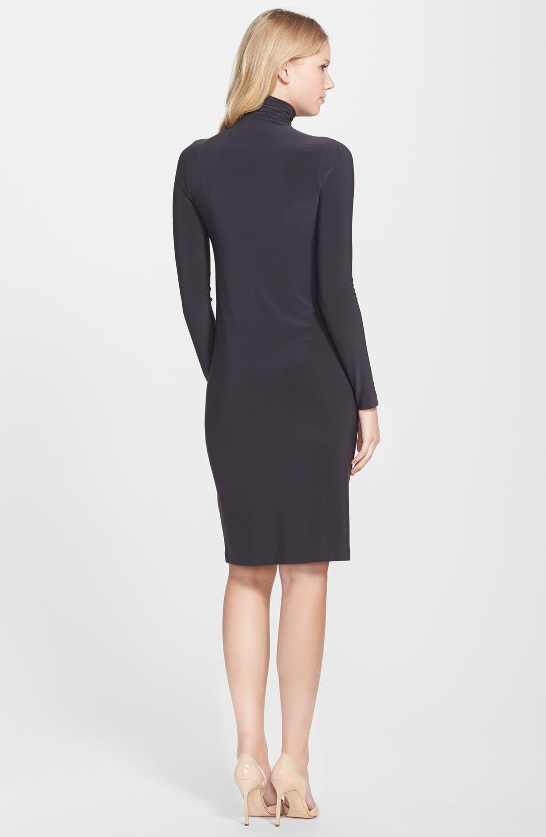 Alternate Image 2  - KAMALIKULTURE Turtleneck Jersey Shift Dress