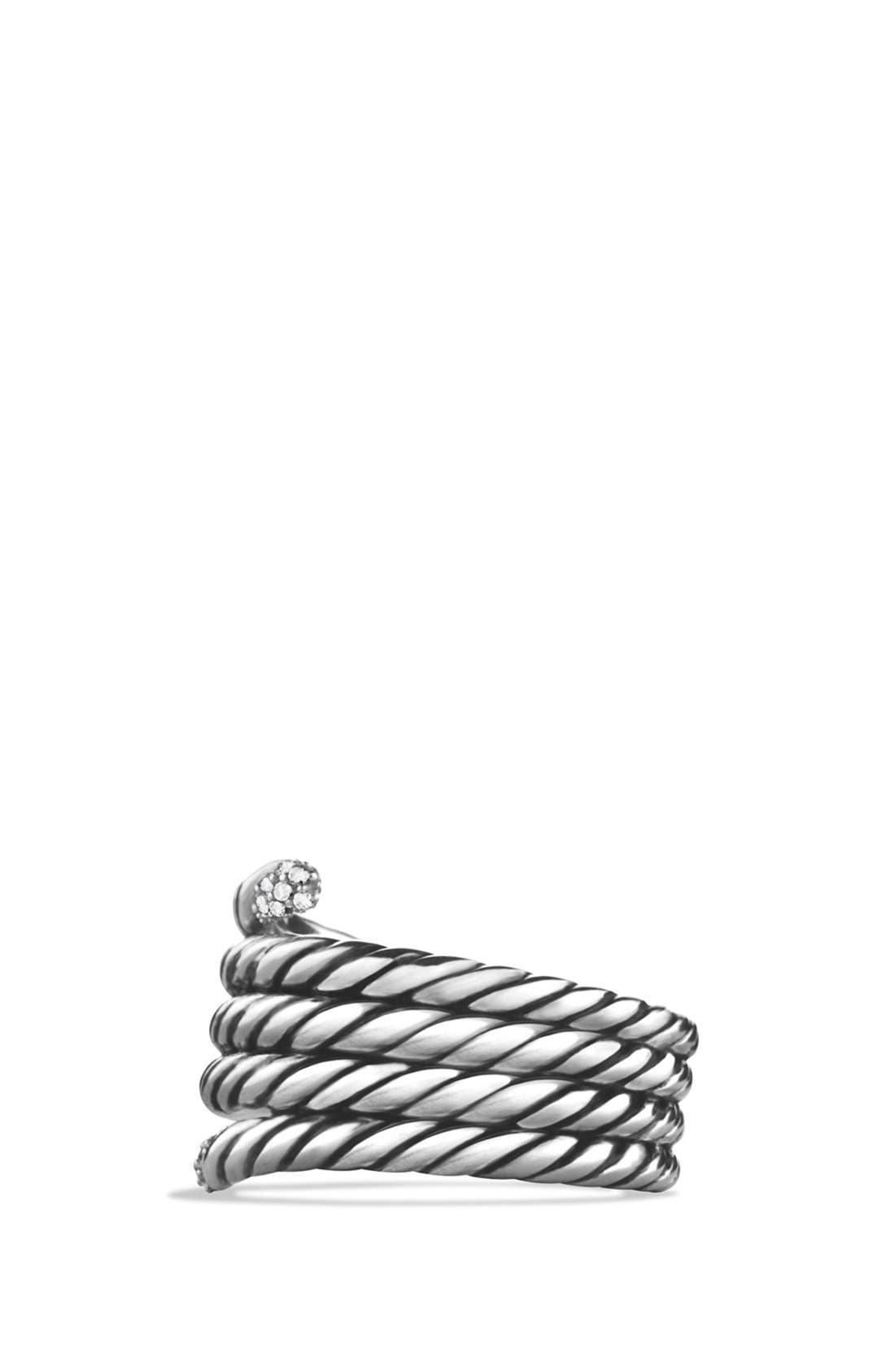 Alternate Image 2  - David Yurman 'Willow' Serpentine Ring with Diamonds