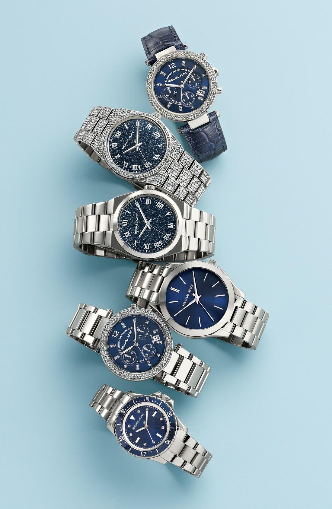 Alternate Image 5  - Michael Kors 'Parker' Chronograph Leather Watch, 39mm