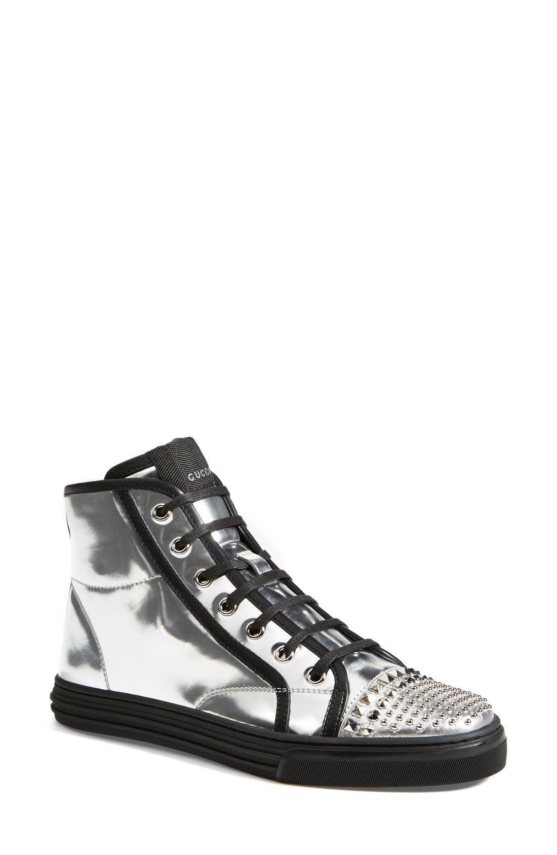 Main Image - Gucci 'California' Studded Sneaker (Women)