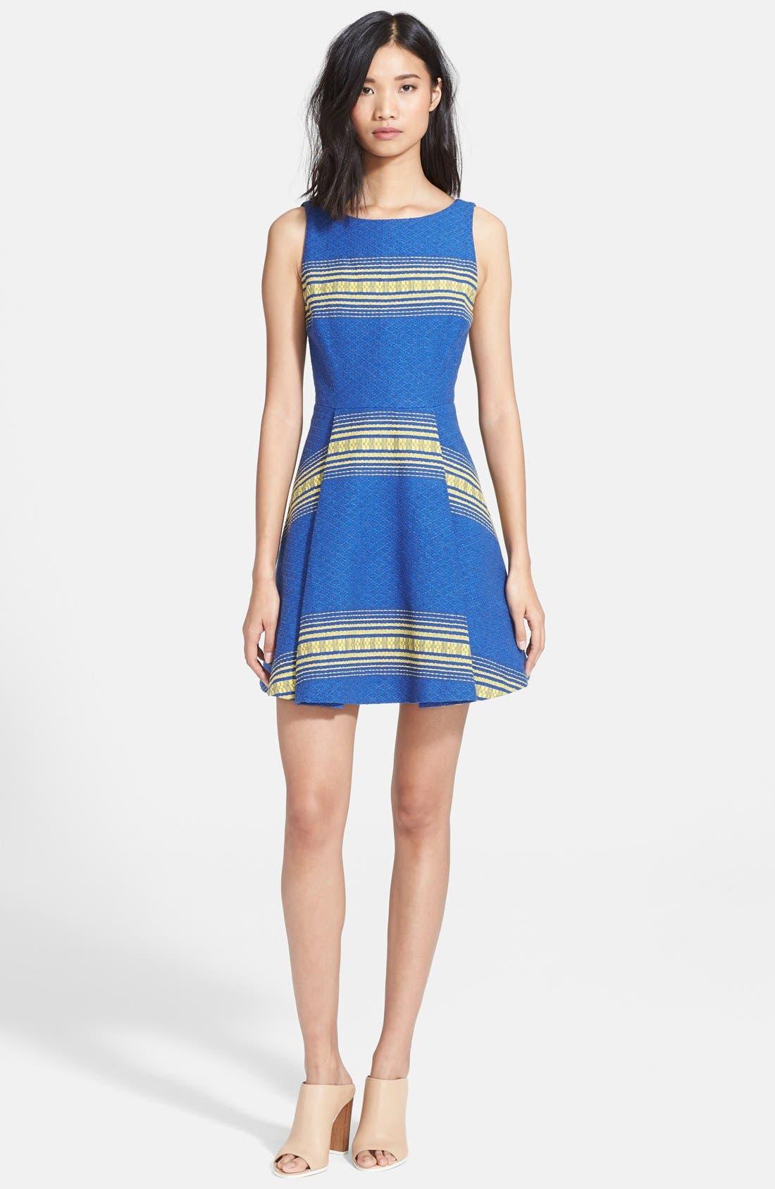 Alternate Image 1 Selected - Alice + Olivia 'Holis' Cotton Fit & Flare Dress