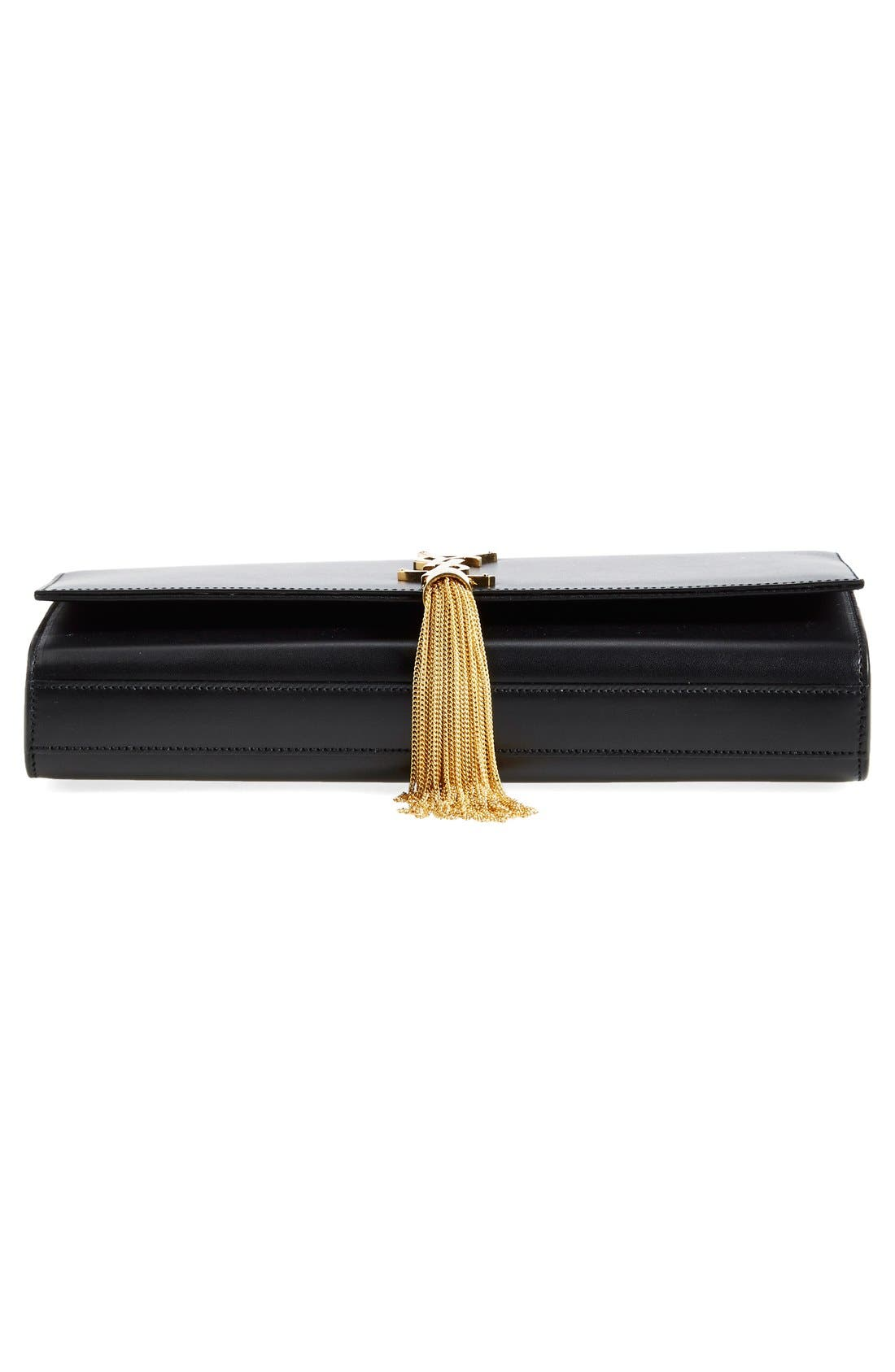 Alternate Image 5  - Saint Laurent 'Cassandre' Tassel Leather Clutch
