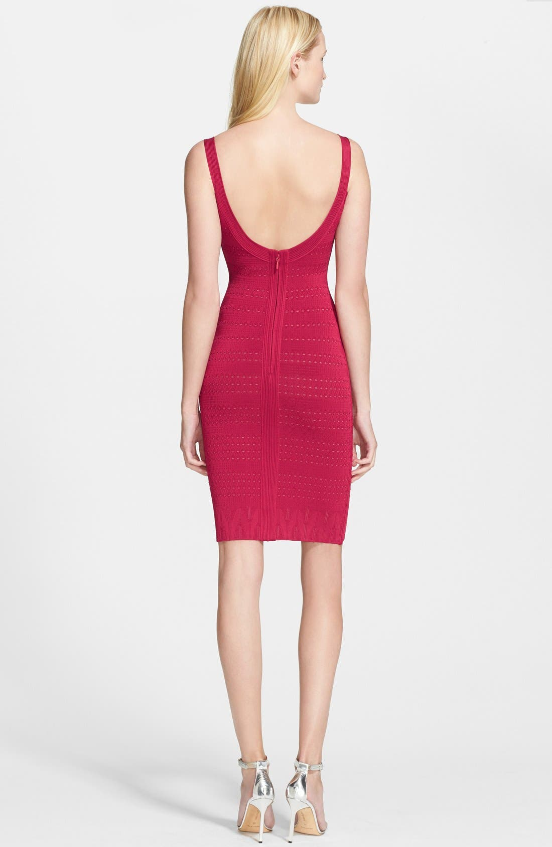 Alternate Image 2  - Herve Leger Geo Lace Bandage Pencil Dress