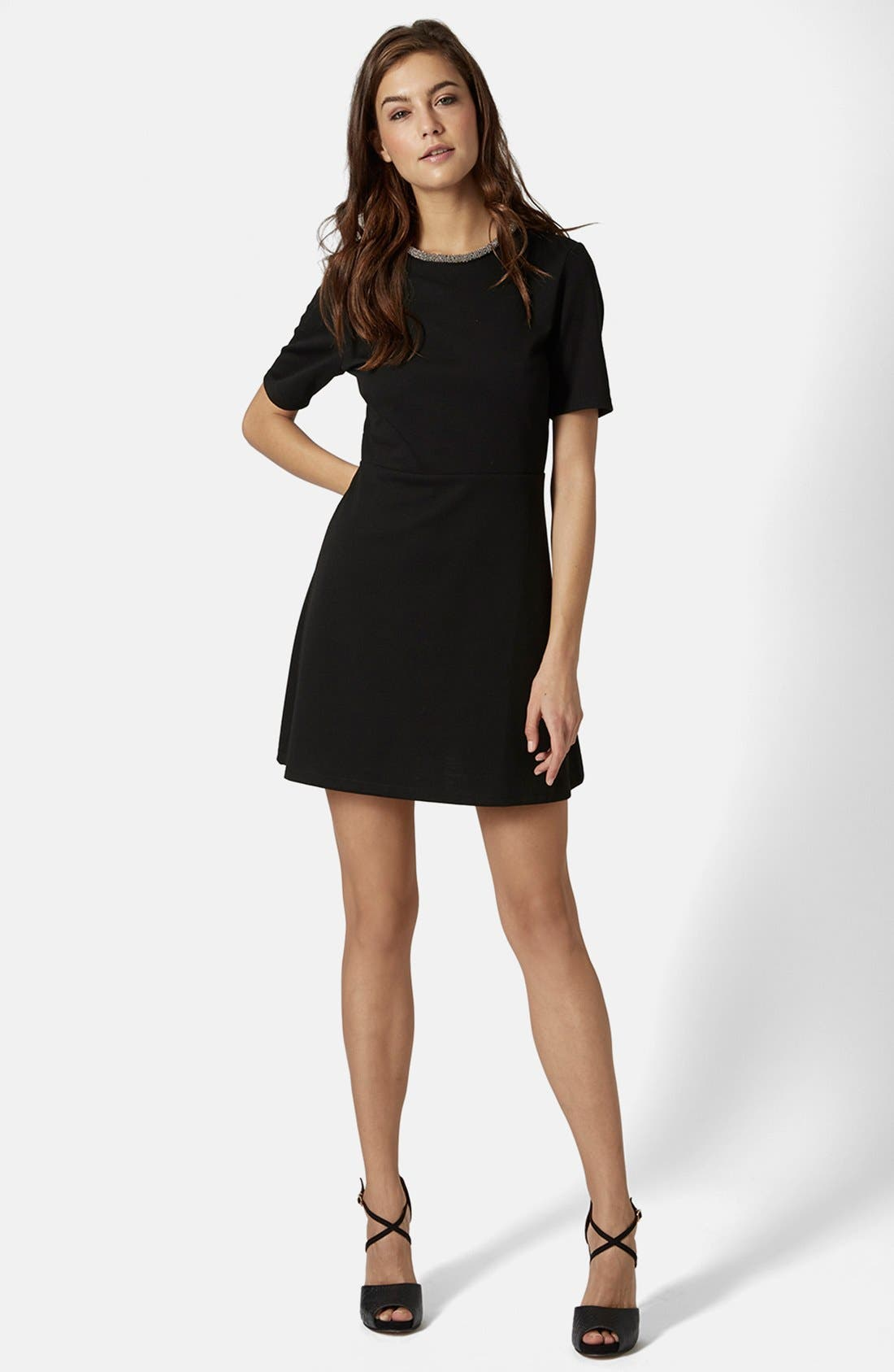 Alternate Image 4  - Topshop Embellished Skater Dress