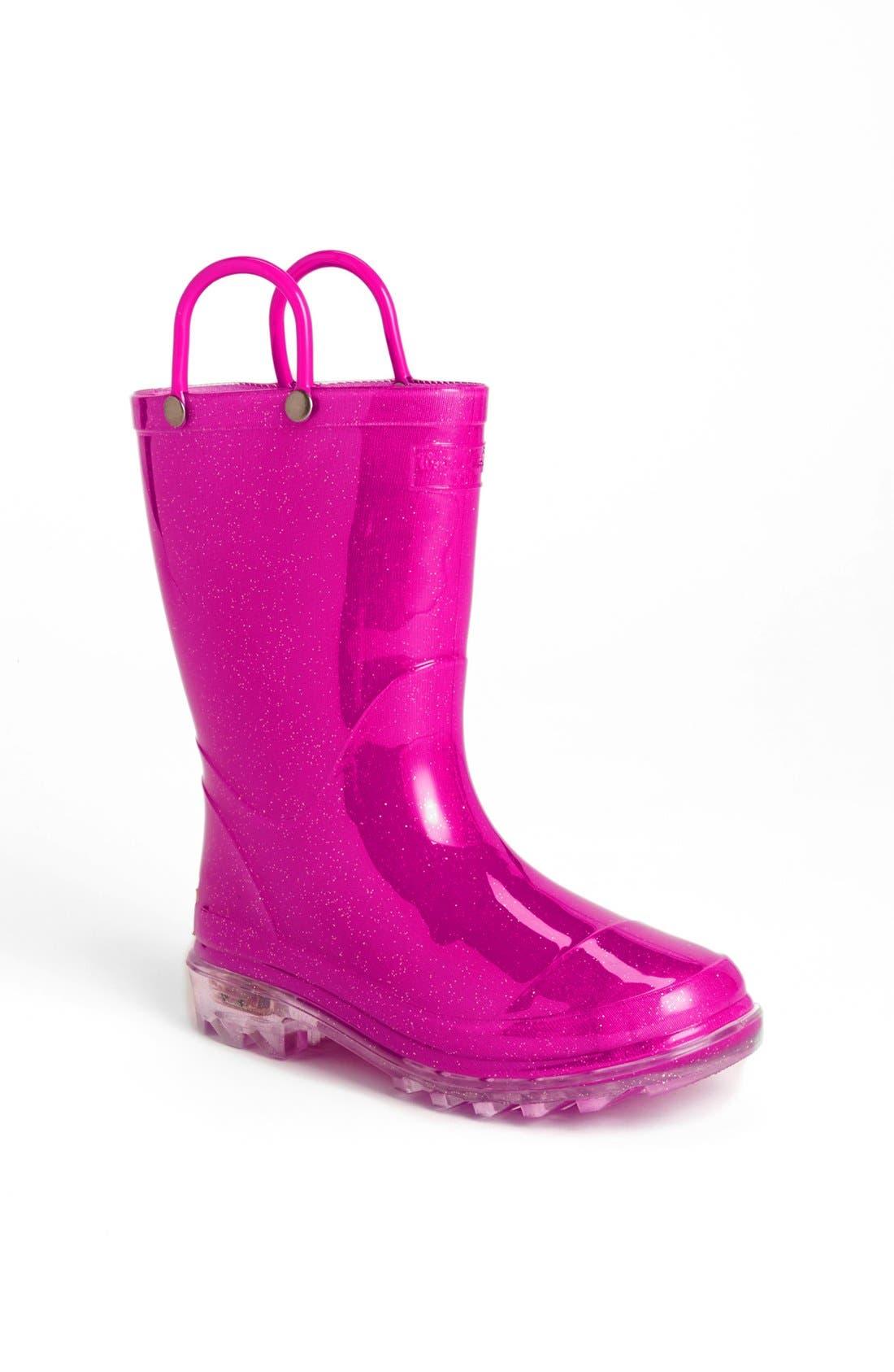 Alternate Image 1 Selected - Western Chief Light-Up Glitter Rain Boot (Toddler & Little Kid)