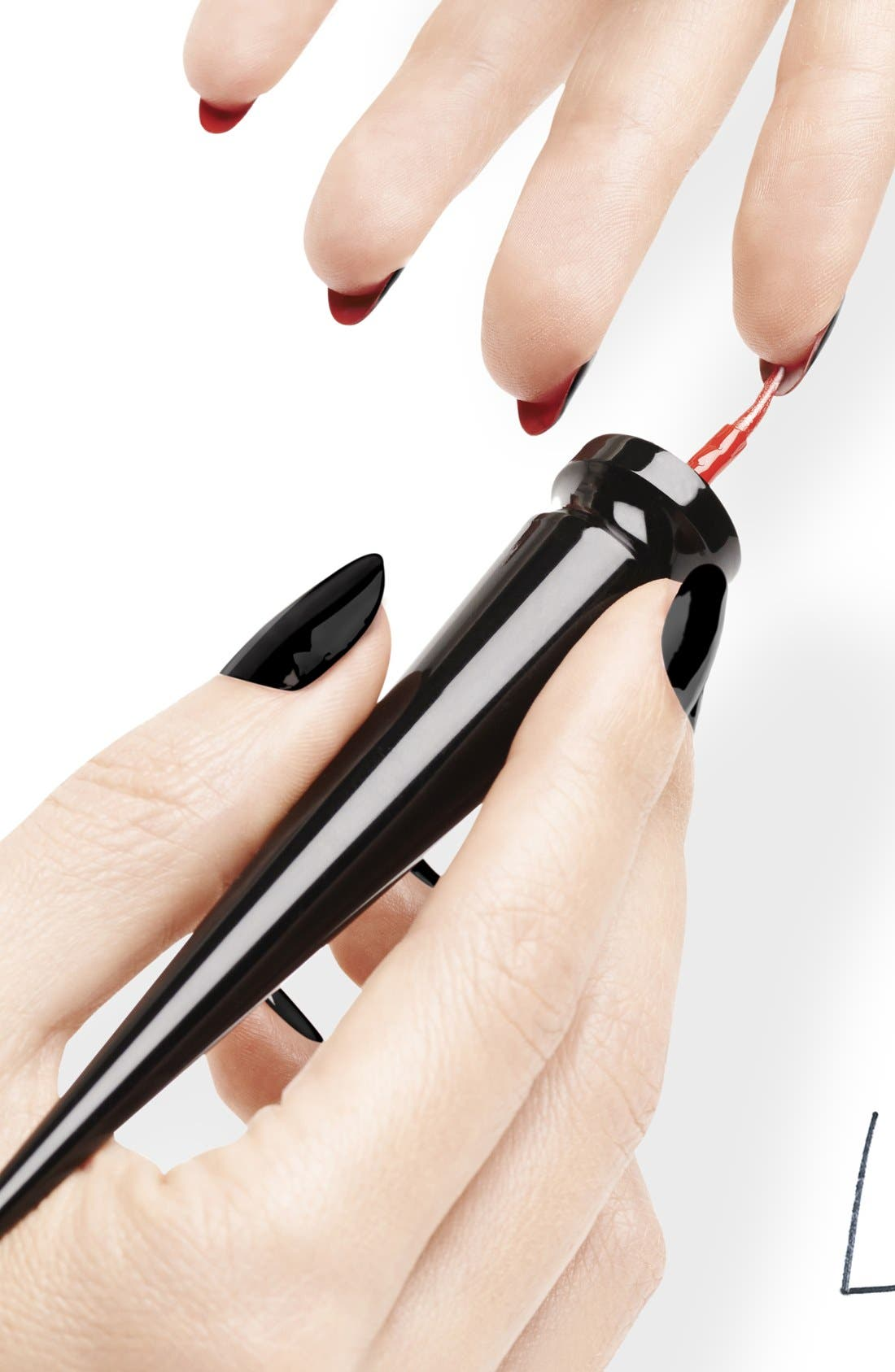 Christian Louboutin Under Red Manicure