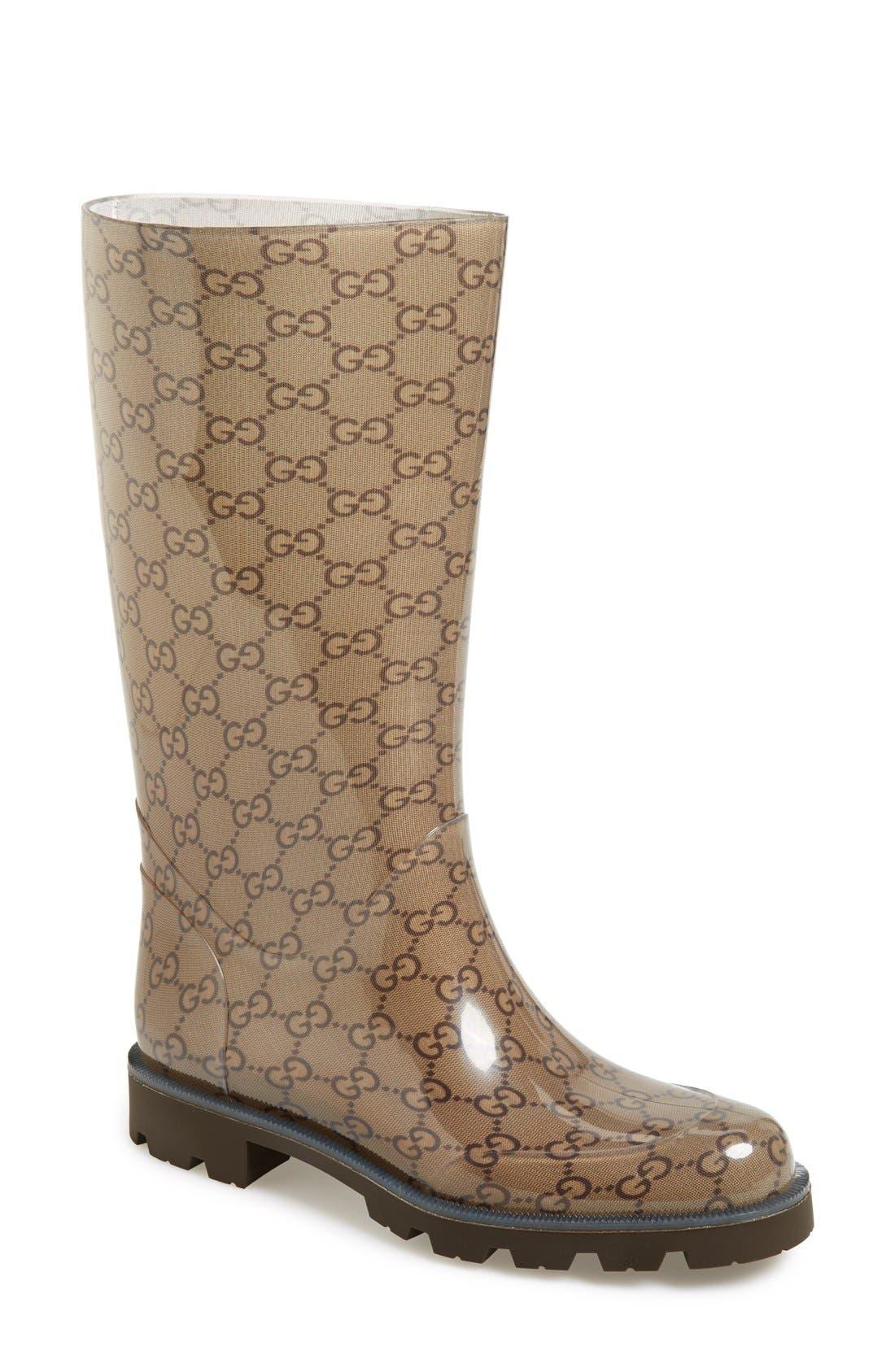 Alternate Image 1 Selected - Gucci 'Edimburg GG' Rain Boot