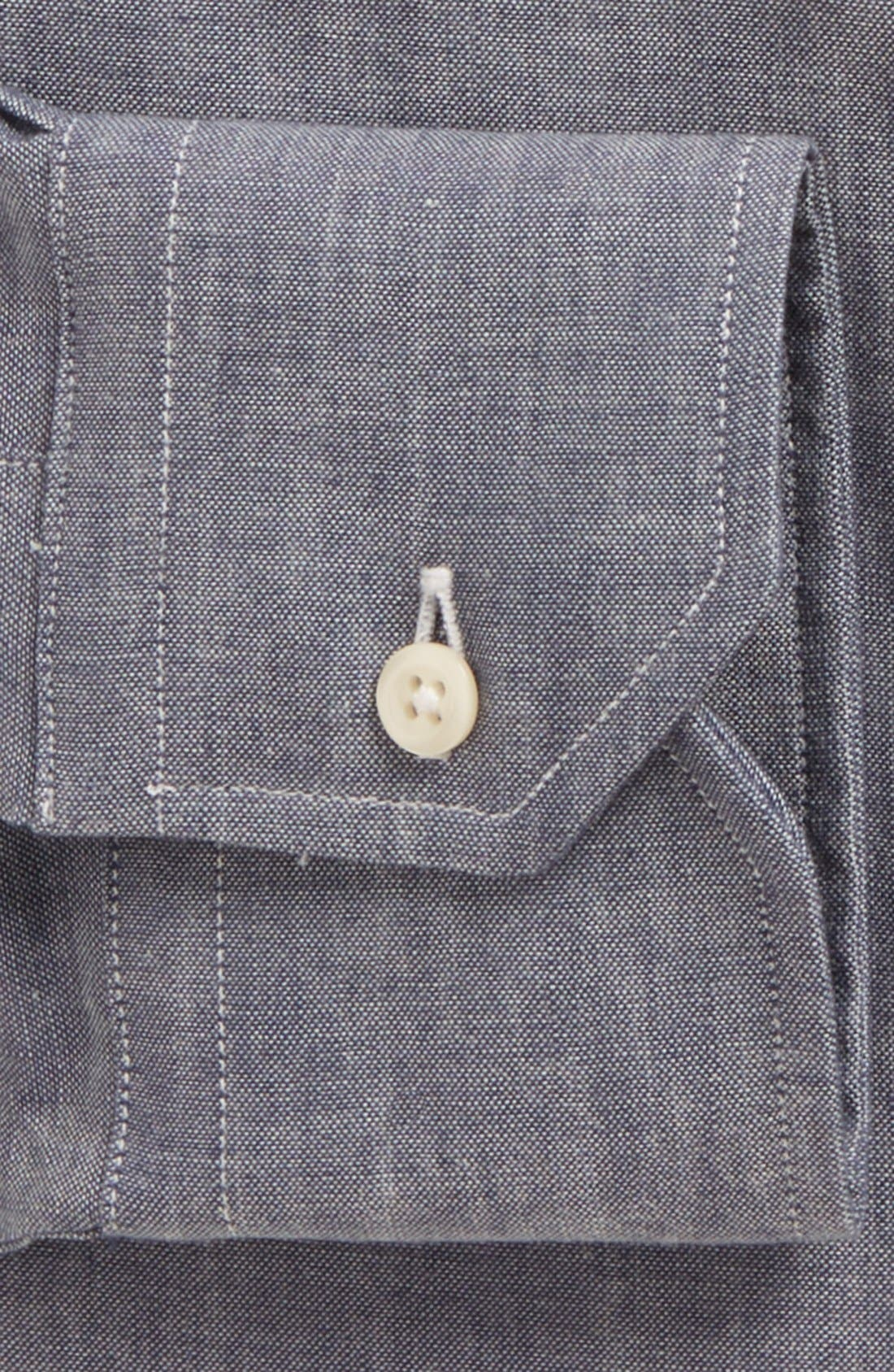 Alternate Image 2  - Gitman Tailored Fit Chambray Dress Shirt
