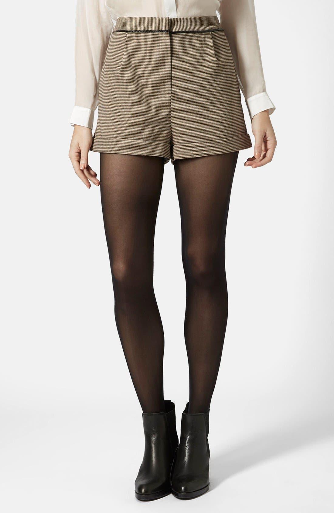 Main Image - Topshop Check Mini Shorts