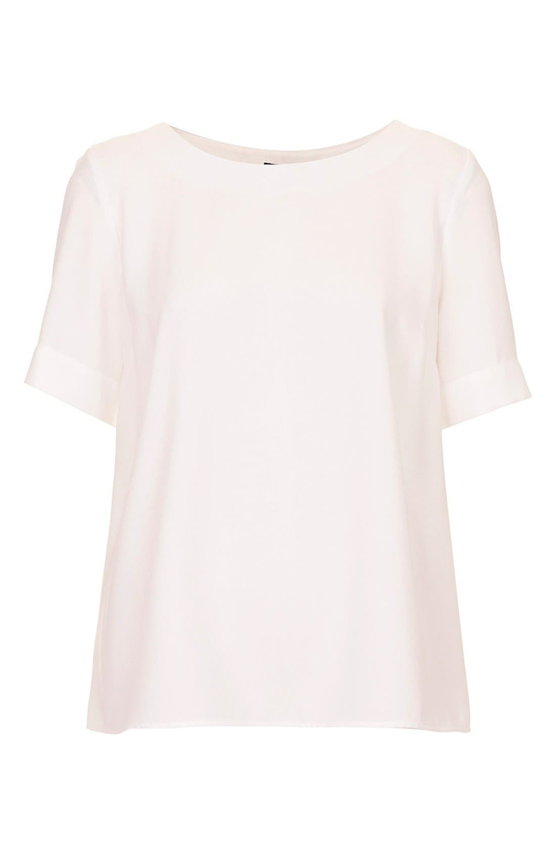 Alternate Image 2  - Topshop Drape Back Tee
