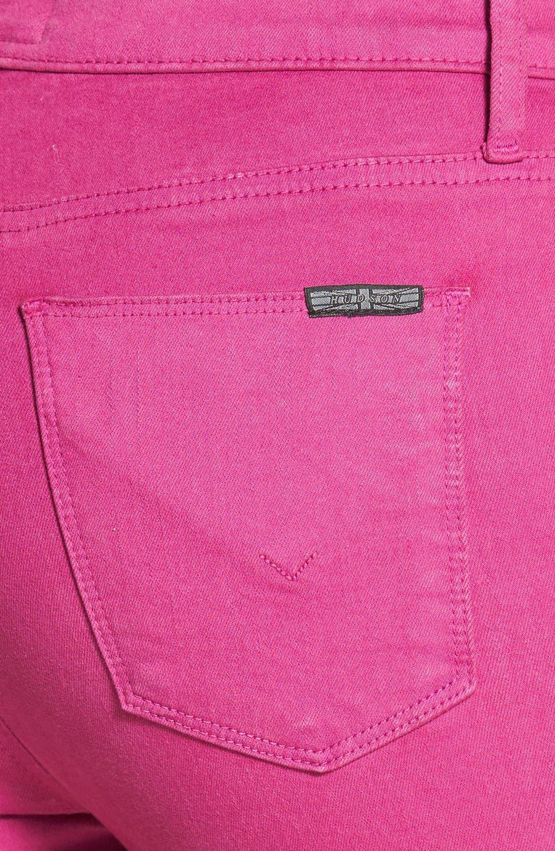 Alternate Image 3  - Hudson Jeans 'Krista' Super Skinny Jeans (Bright Hydrangea)