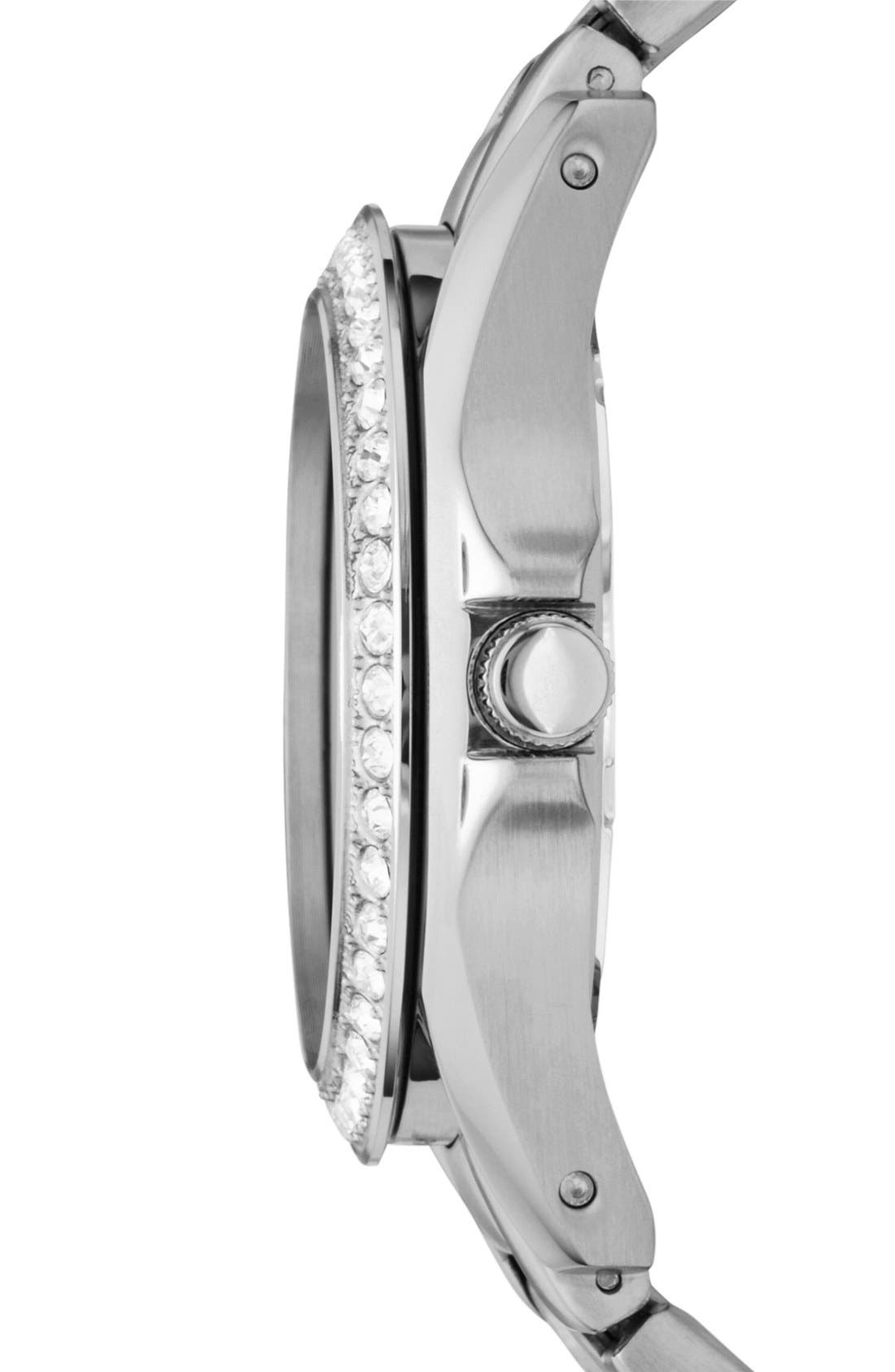 Alternate Image 3  - Fossil 'Riley' Round Crystal Bezel Bracelet Watch, 38mm