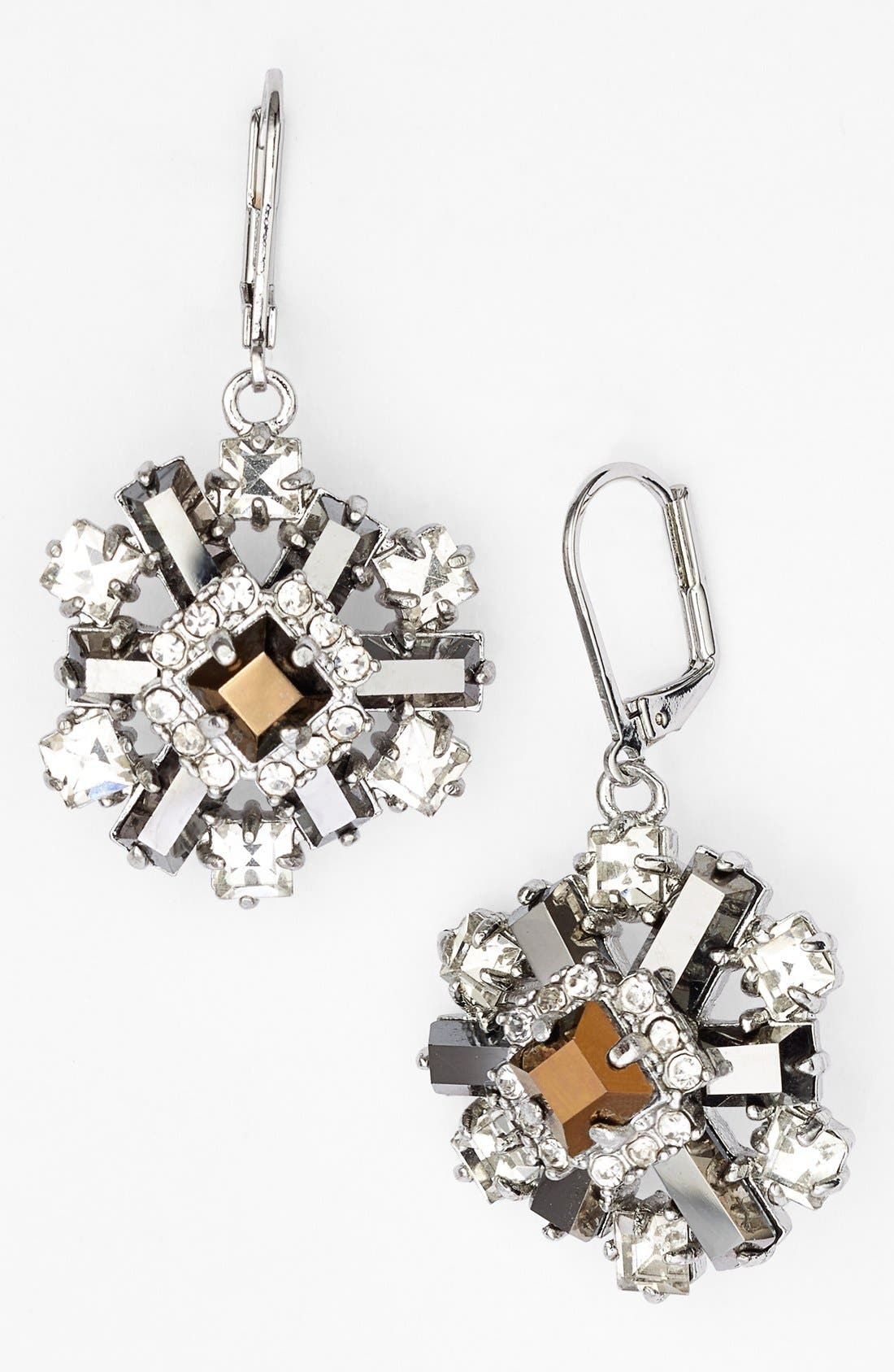 Main Image - kate spade new york 'space age floral' cluster drop earrings