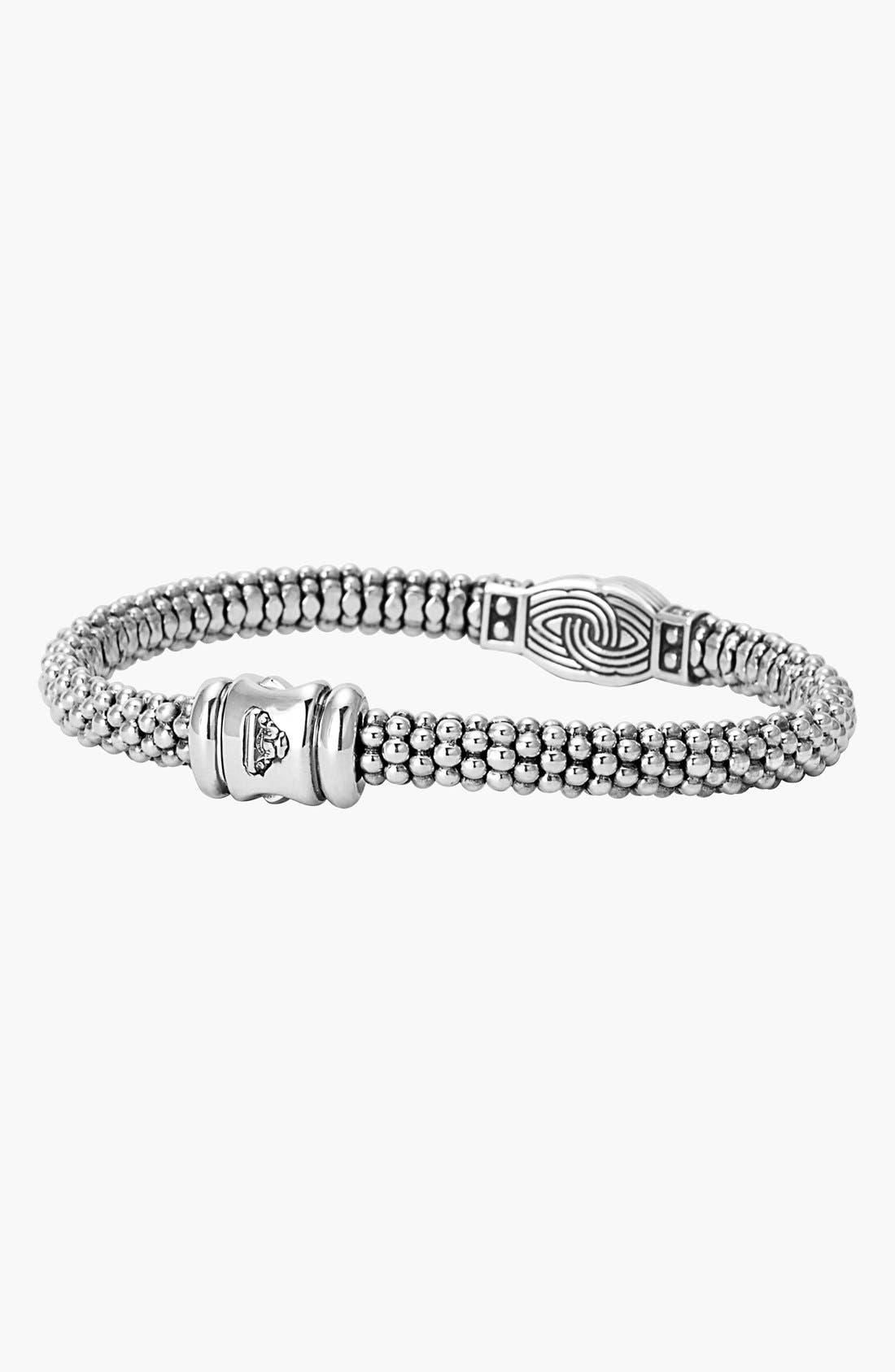 Alternate Image 2  - LAGOS 'Silver Knot' Diamond & Caviar Station Bracelet (Nordstrom Online Exclusive)