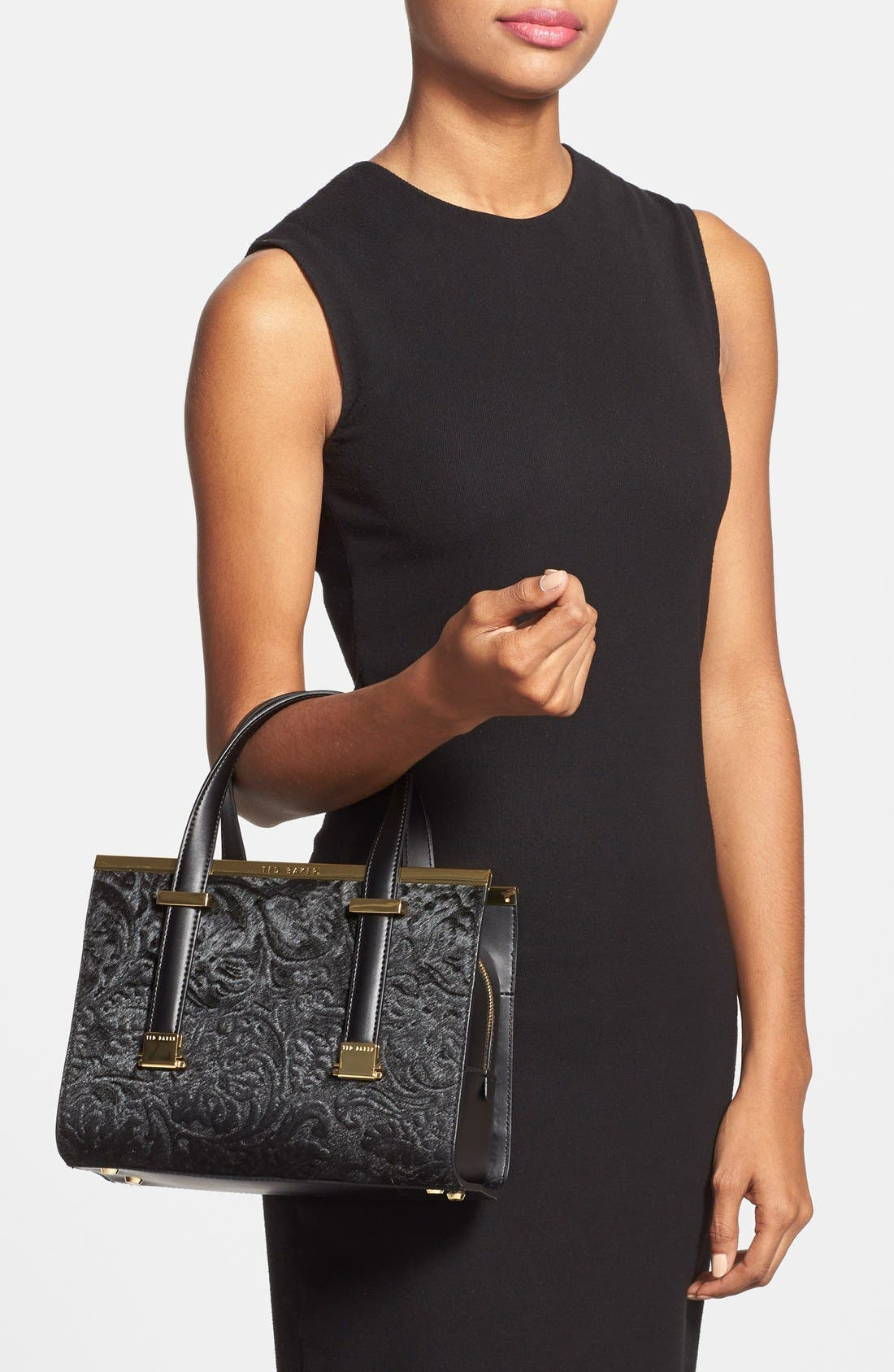 Alternate Image 2  - Ted Baker London 'Minipel' Textured Metal Tote