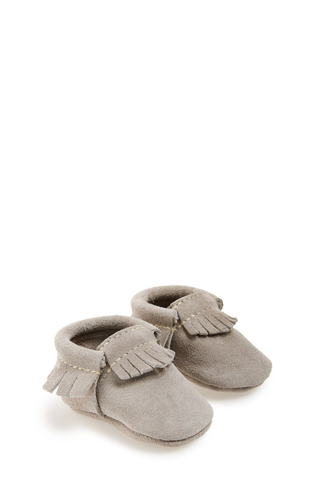 Main Image - Freshly Picked Suede Moccasin (Baby, Walker & Toddler)