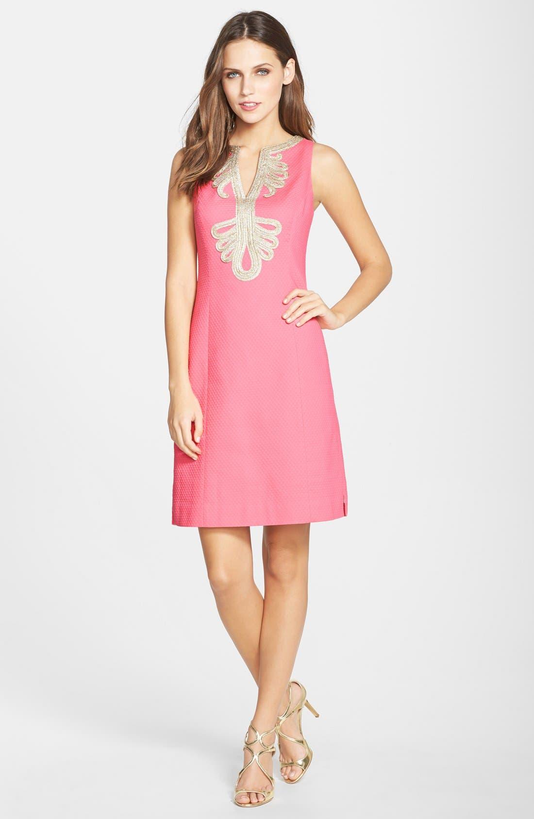 Alternate Image 3  - Lilly Pulitzer® 'Janice' Soutache Trim Shift Dress