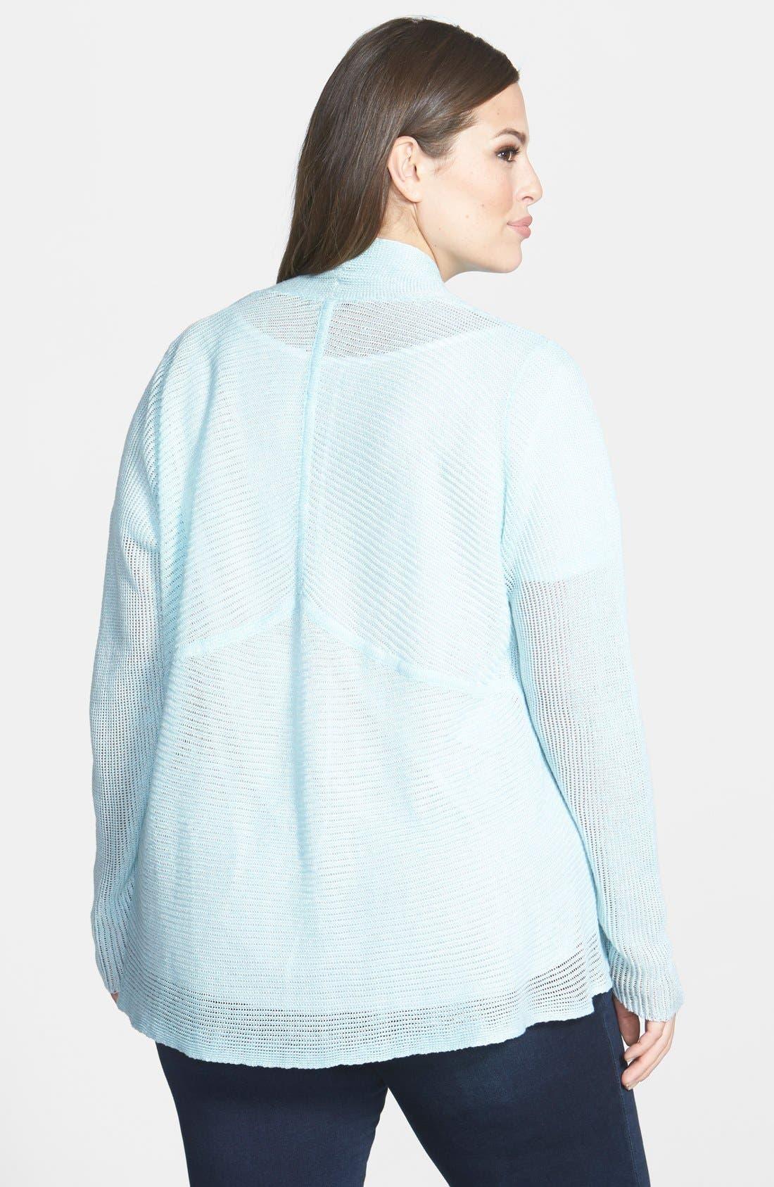 Alternate Image 2  - Eileen Fisher Shaped Linen Cardigan (Plus Size)