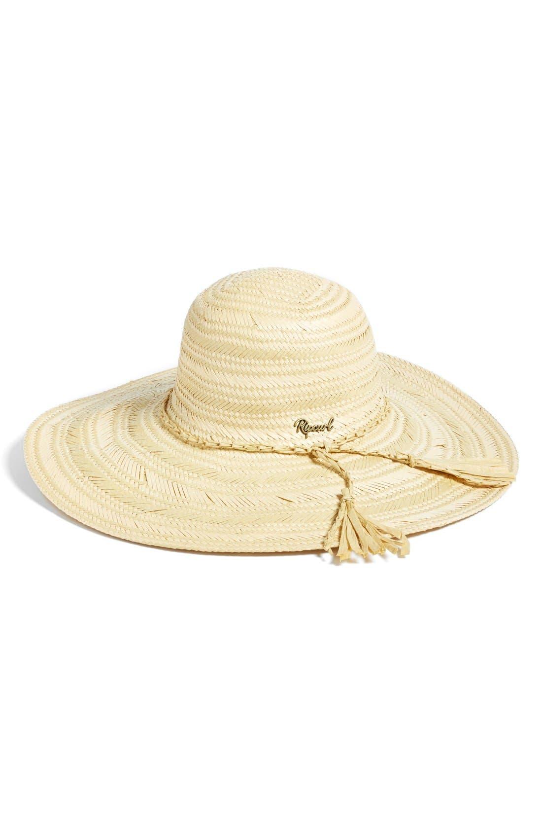 Main Image - Rip Curl 'Scarlet Boho' Woven Wide Brim Hat (Juniors)