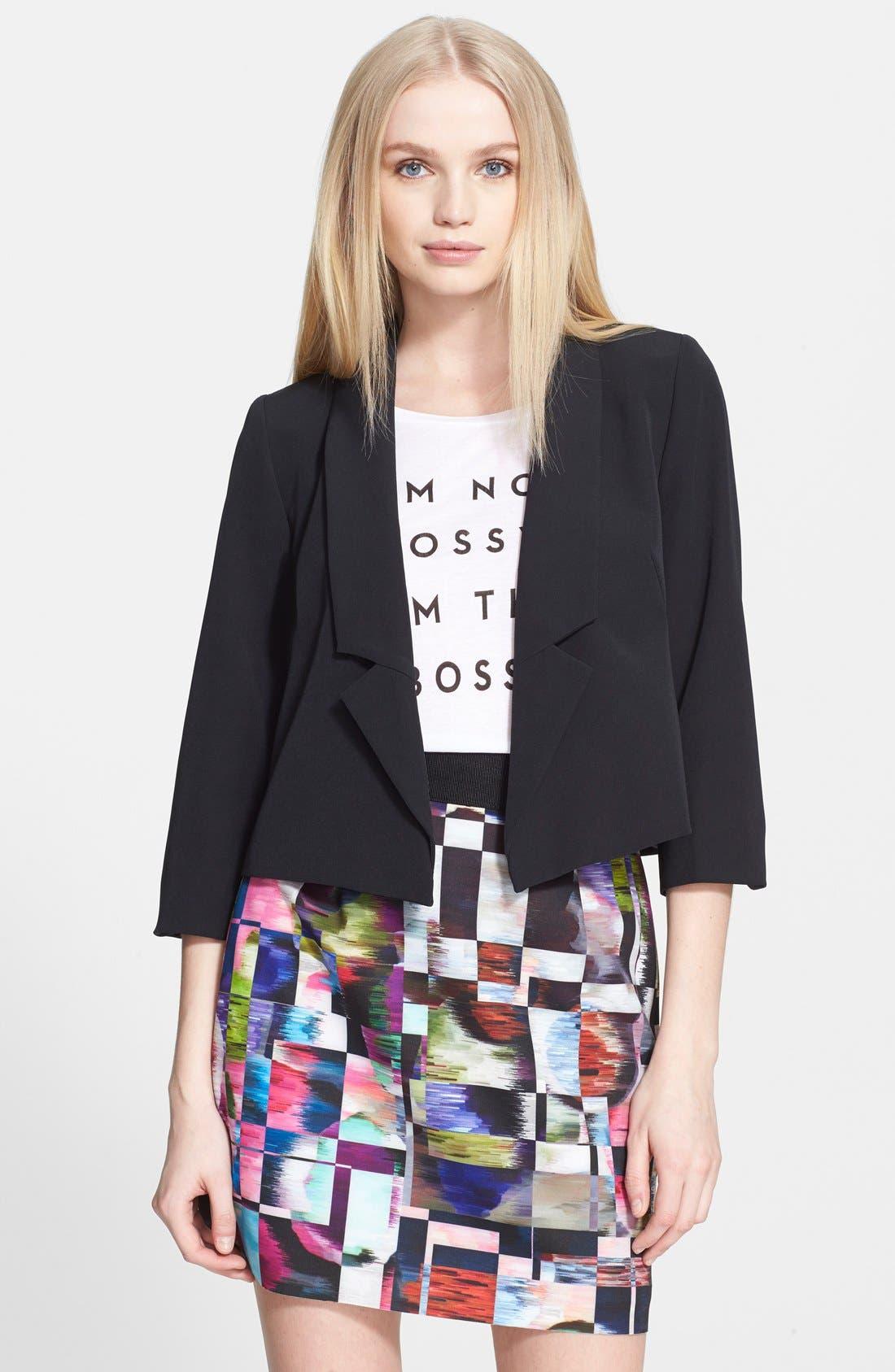 Alternate Image 1 Selected - Milly Crop Blazer