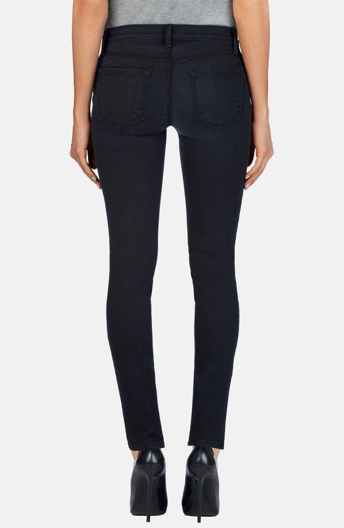 Alternate Image 2  - J Brand 'Cass' Zip Skinny Jeans (Digital)