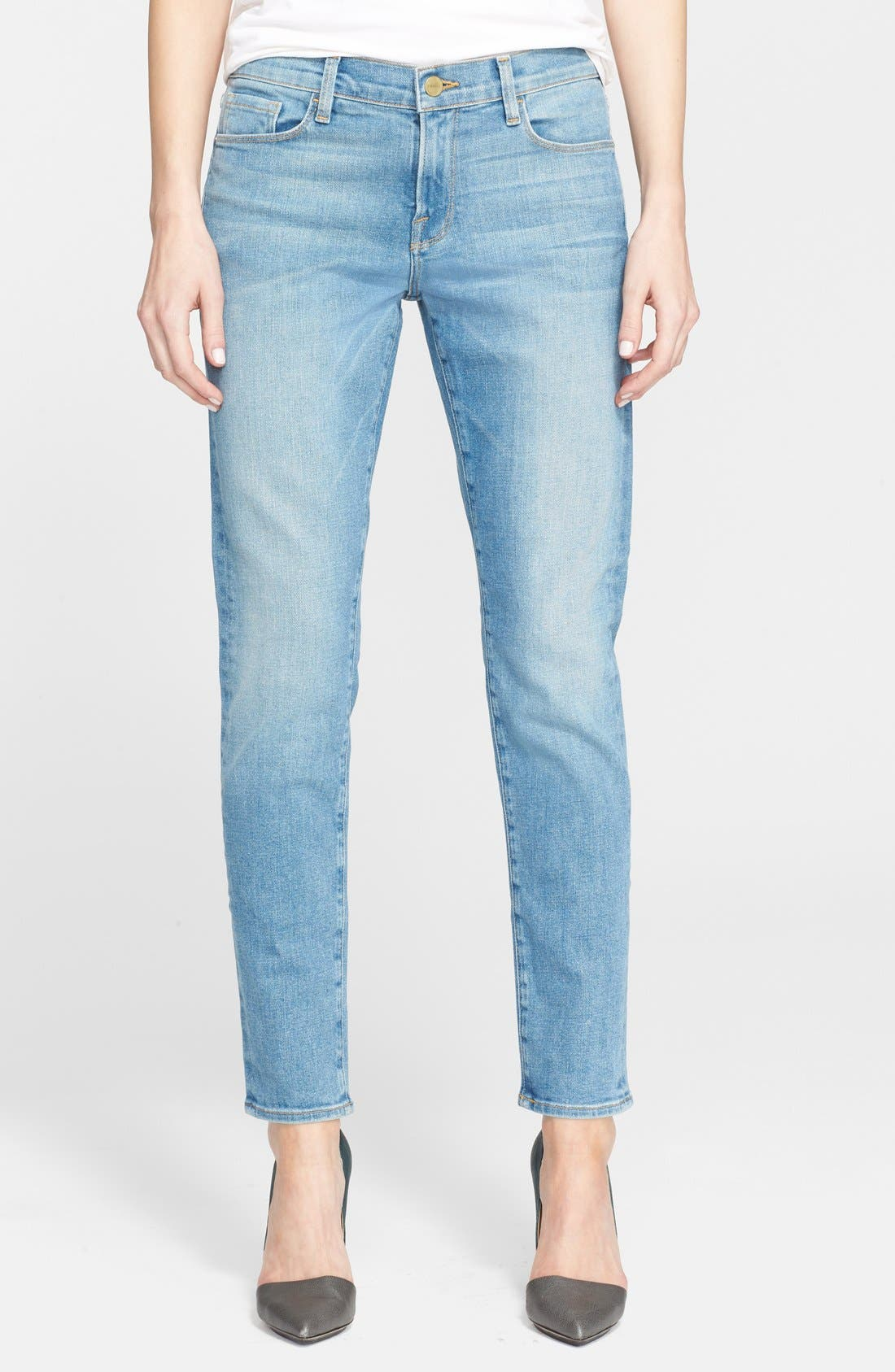 Main Image - Frame Denim 'Le Garcon' Boyfriend Jeans (Exmouth)