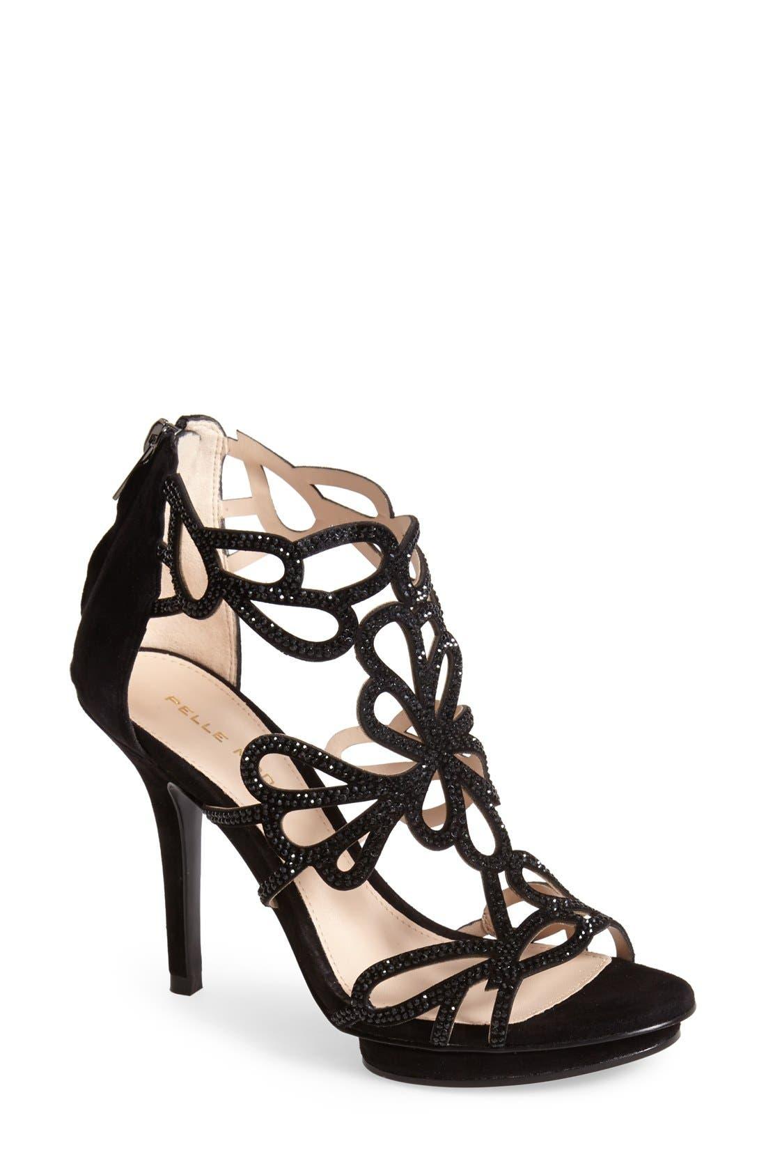 Alternate Image 1 Selected - Pelle Moda 'Ripley' Suede Platform Sandal (Women)