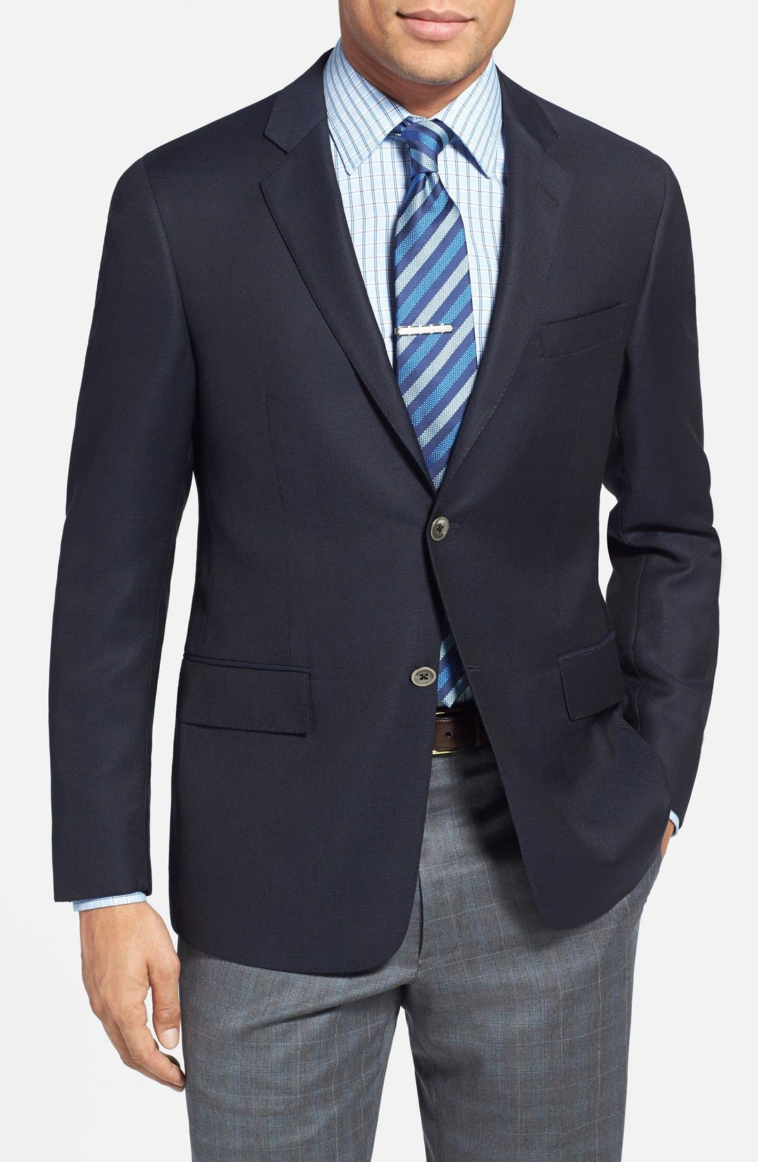 Alternate Image 1 Selected - Todd Snyder 'May Fair' Trim Fit Wool Blazer
