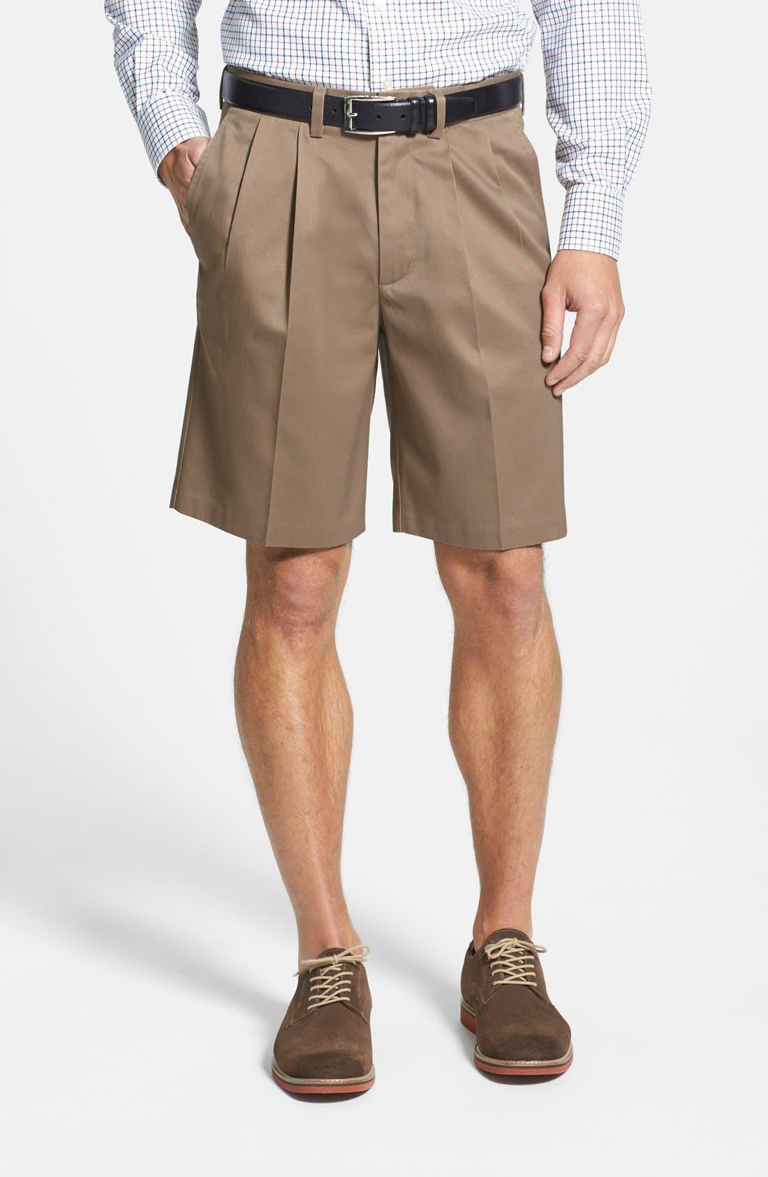 Nordstrom Men's Shop Smartcare™ Pleated Shorts
