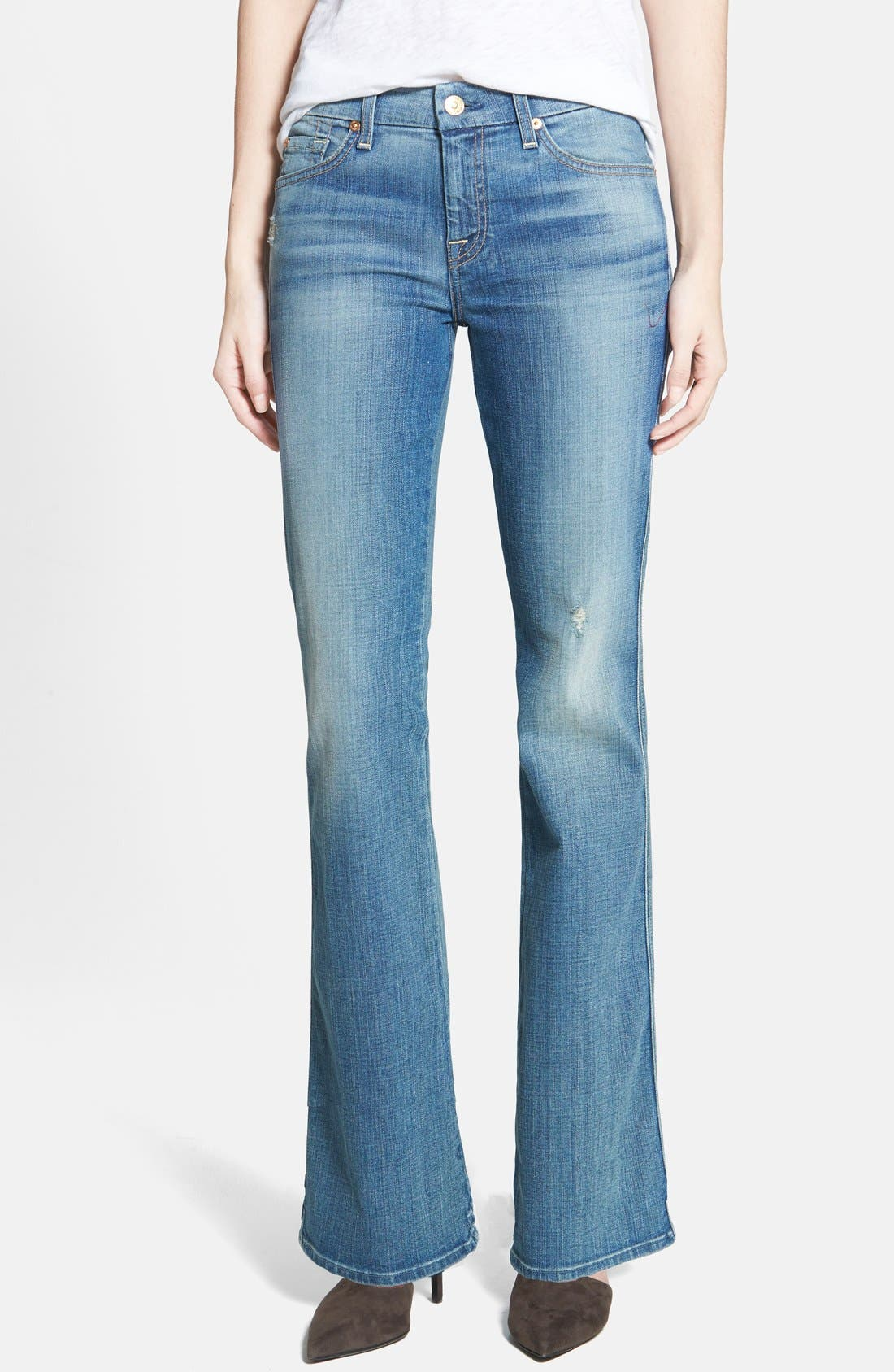 Main Image - 7 For All Mankind® 'A Pocket' Bootcut Jeans (Dusty Vintage Blue)