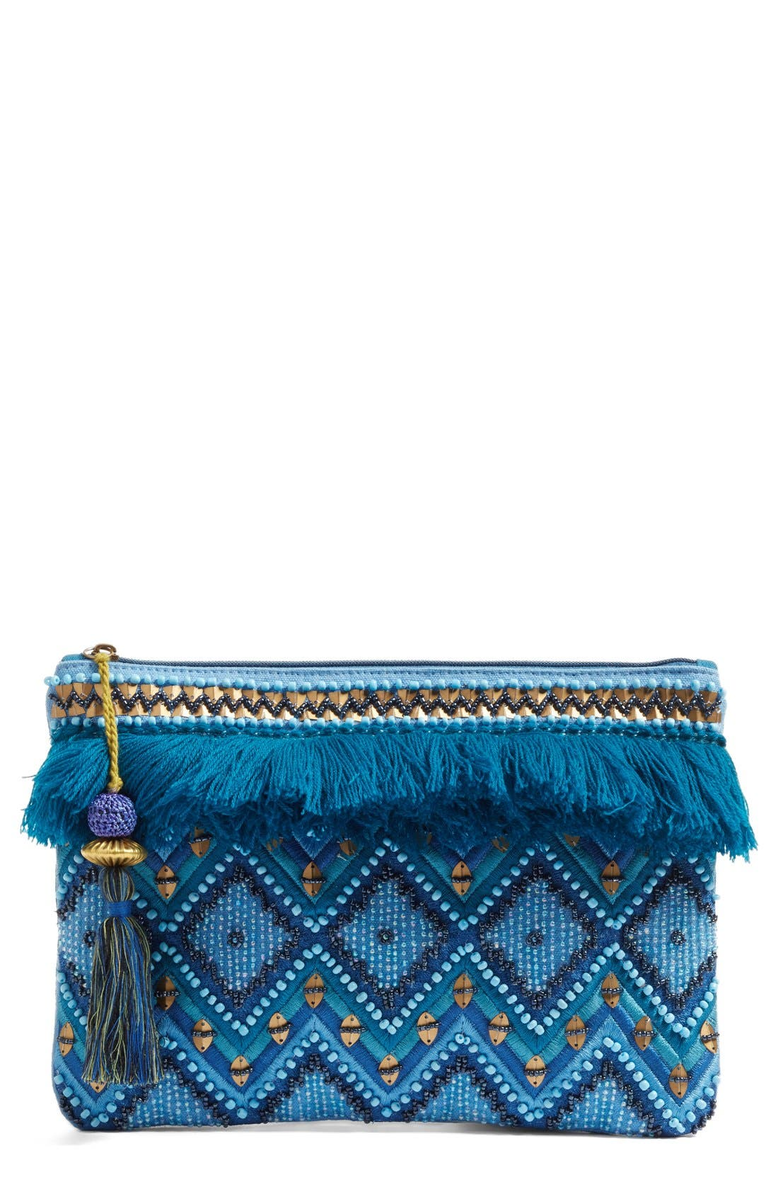 Alternate Image 1 Selected - Steven by Steve Madden Jsuzzana Fringe Clutch
