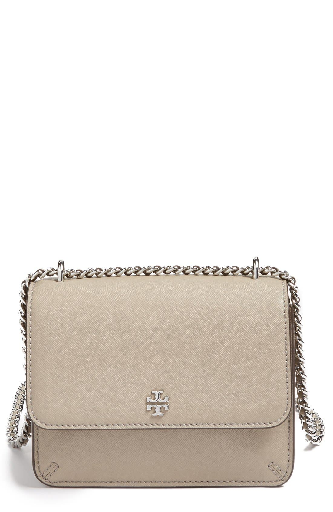 Tory Burch Mini Robinson Convertible Leather Shoulder Bag