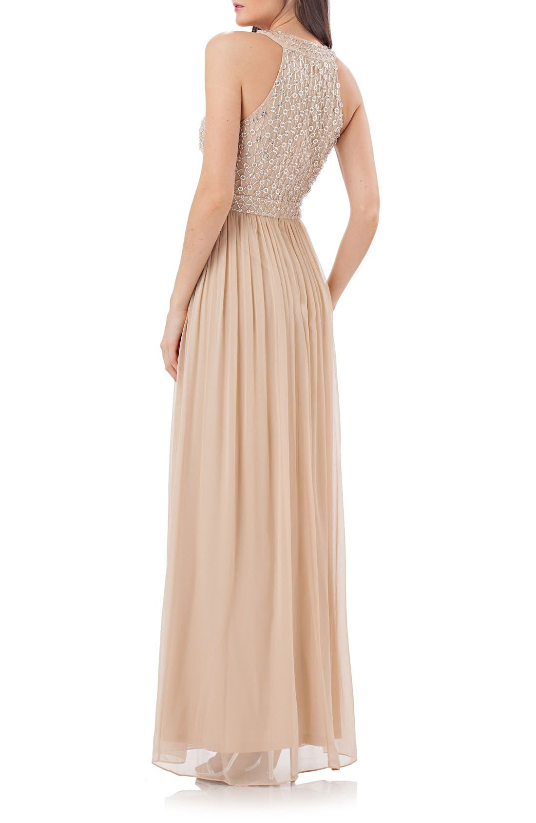 Alternate Image 2  - JS Collections Halter Gown