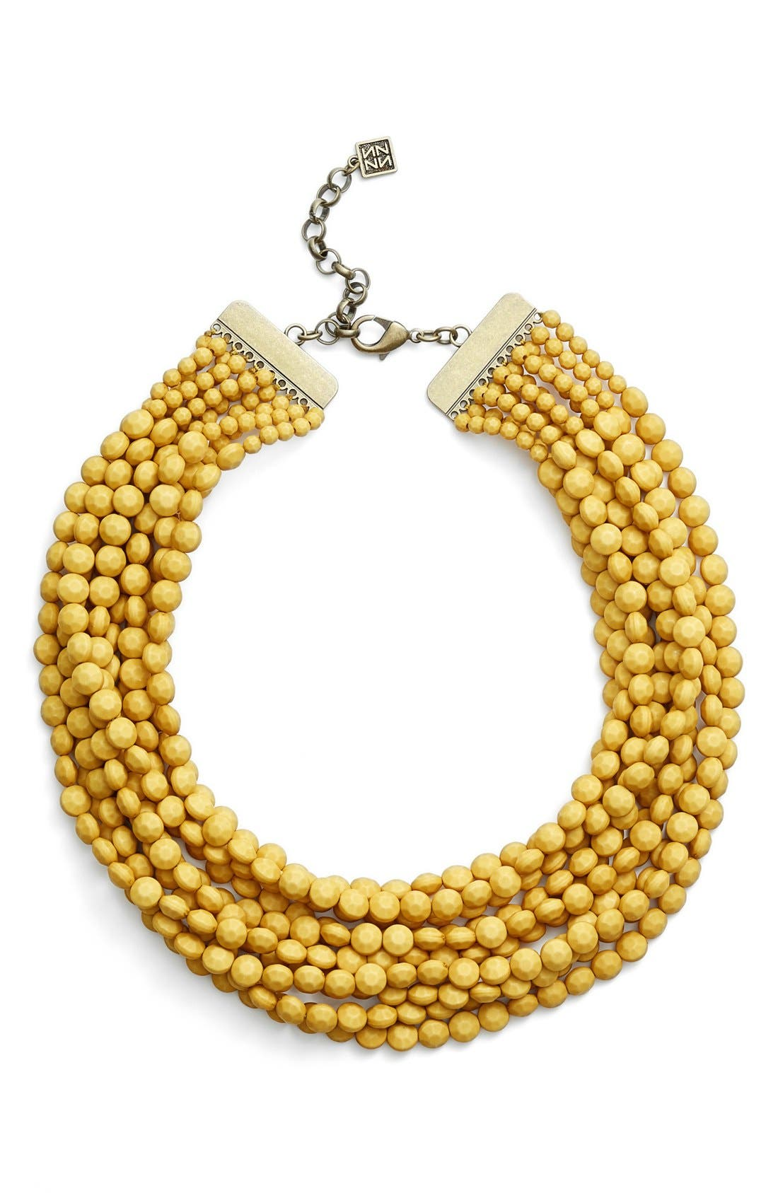 Main Image - ZENZII Beaded Multistrand Collar Necklace
