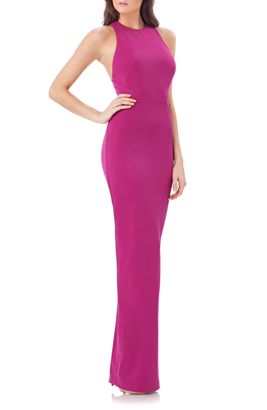 Alternate Image 1 Selected - JS Collections Stretch Crepe Gown
