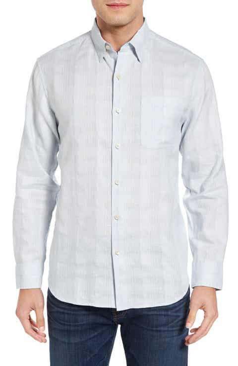 Tommy Bahama A Linen Legend Classic Fit Linen Blend Sport Shirt (Big   Tall)