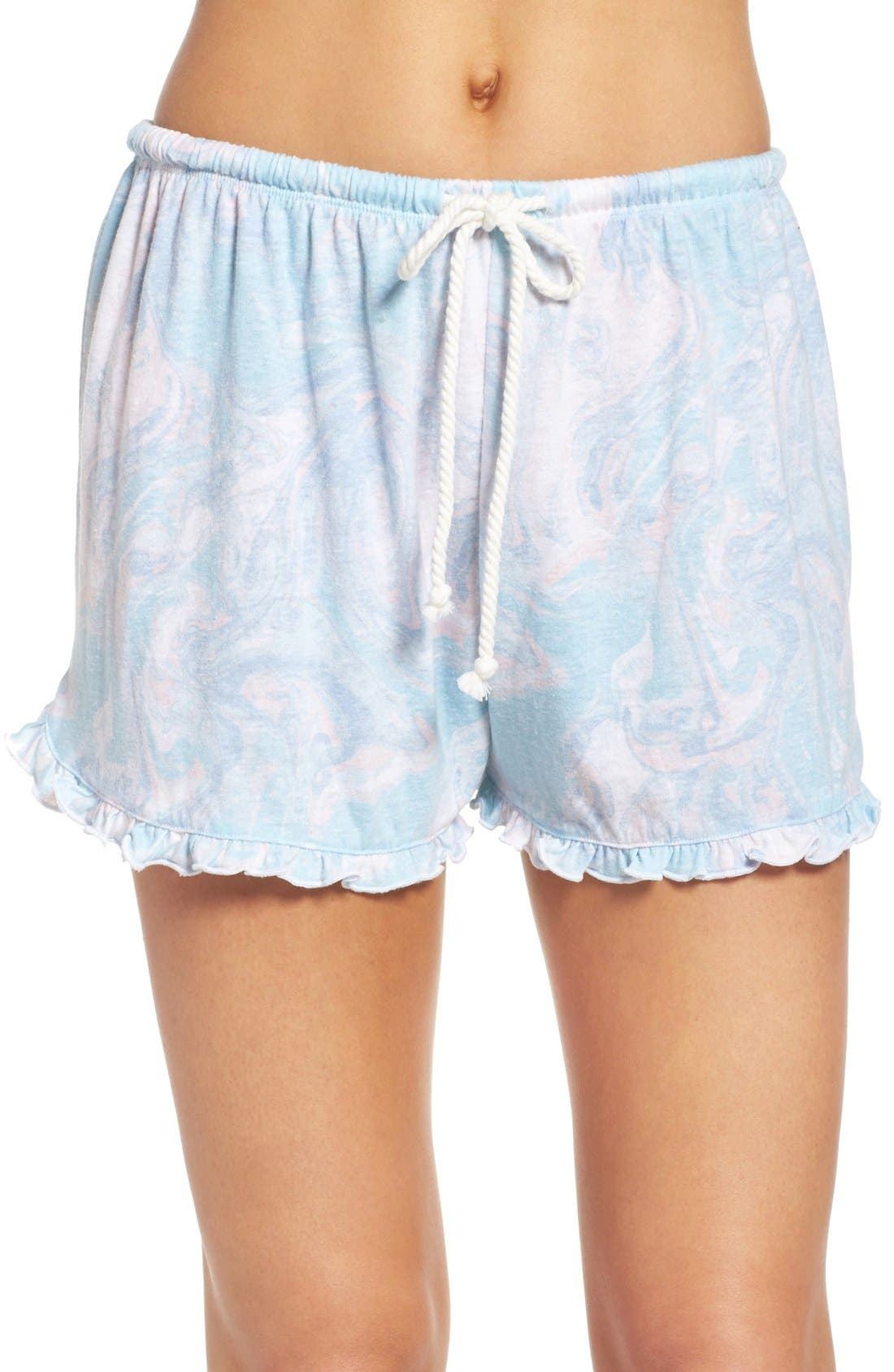 Main Image - Make + Model Ruffle Shorts