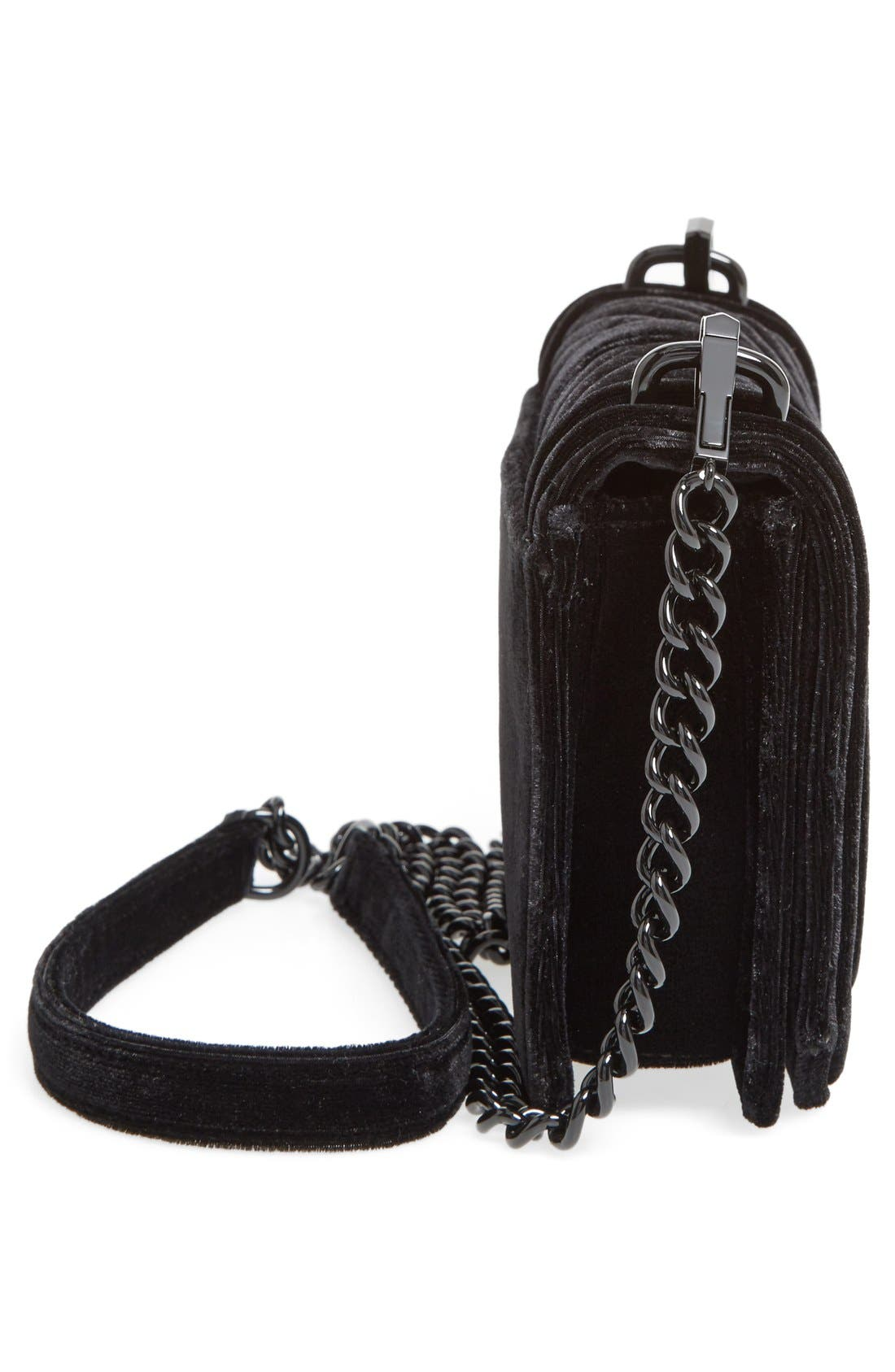 Alternate Image 5  - Rebecca Minkoff Small Love Quilted Velvet Crossbody Bag