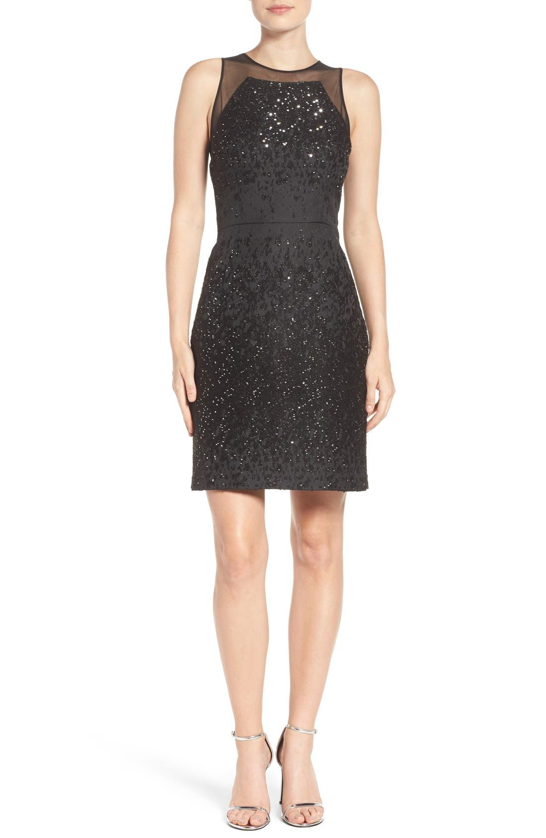 Alternate Image 4  - Vera Wang Metallic Sheath Dress