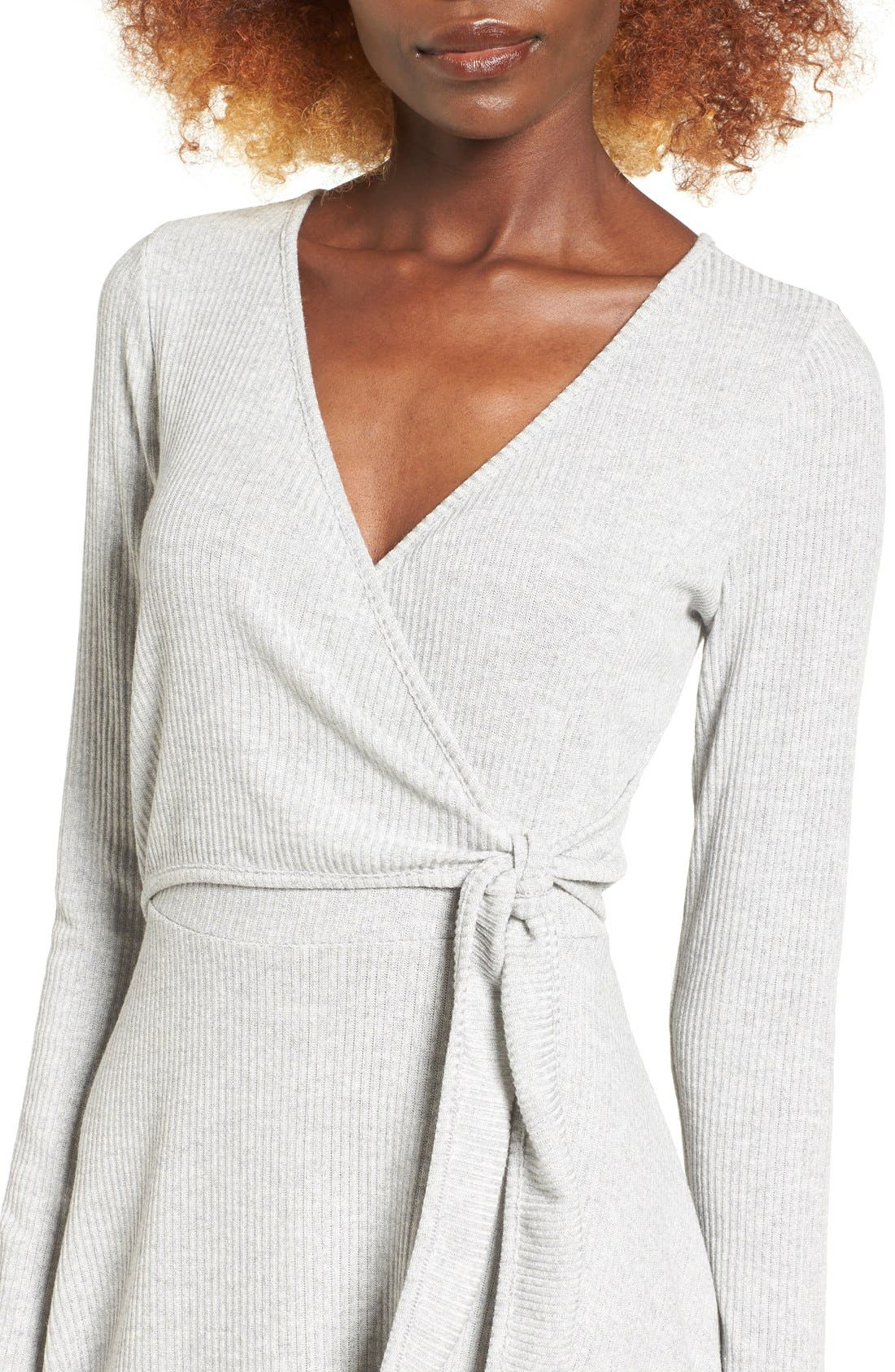 Alternate Image 4  - Everly Rib Knit Wrap Dress