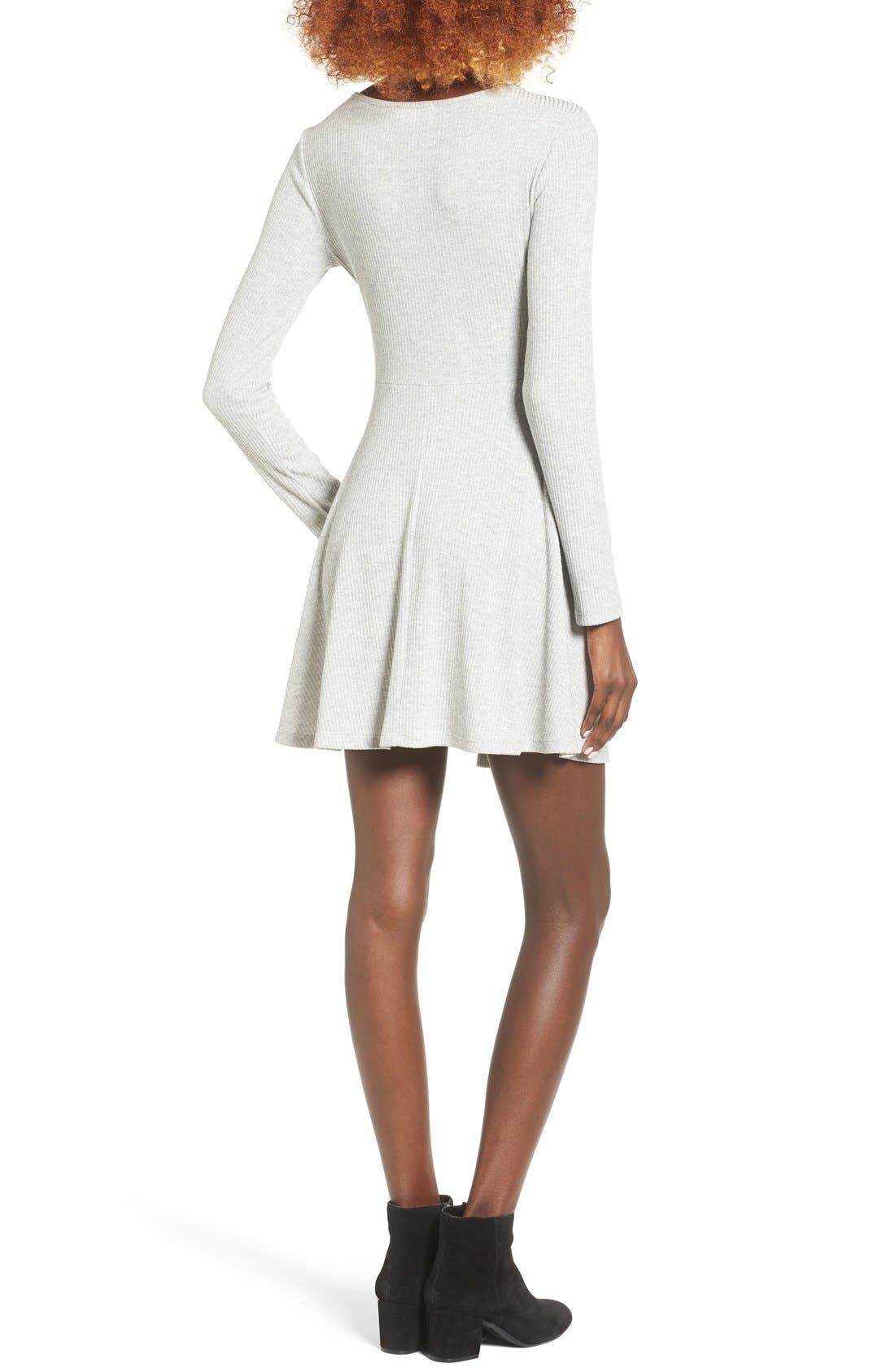 Alternate Image 2  - Everly Rib Knit Wrap Dress